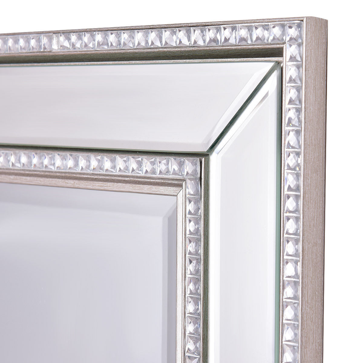Trendy 24 X 36 Wall Mirrors With Regard To Costway 24'' X 36'' Rectangular Wall Mounted Wooden Frame Vanity Mirror  Glass Bathroom (View 18 of 20)