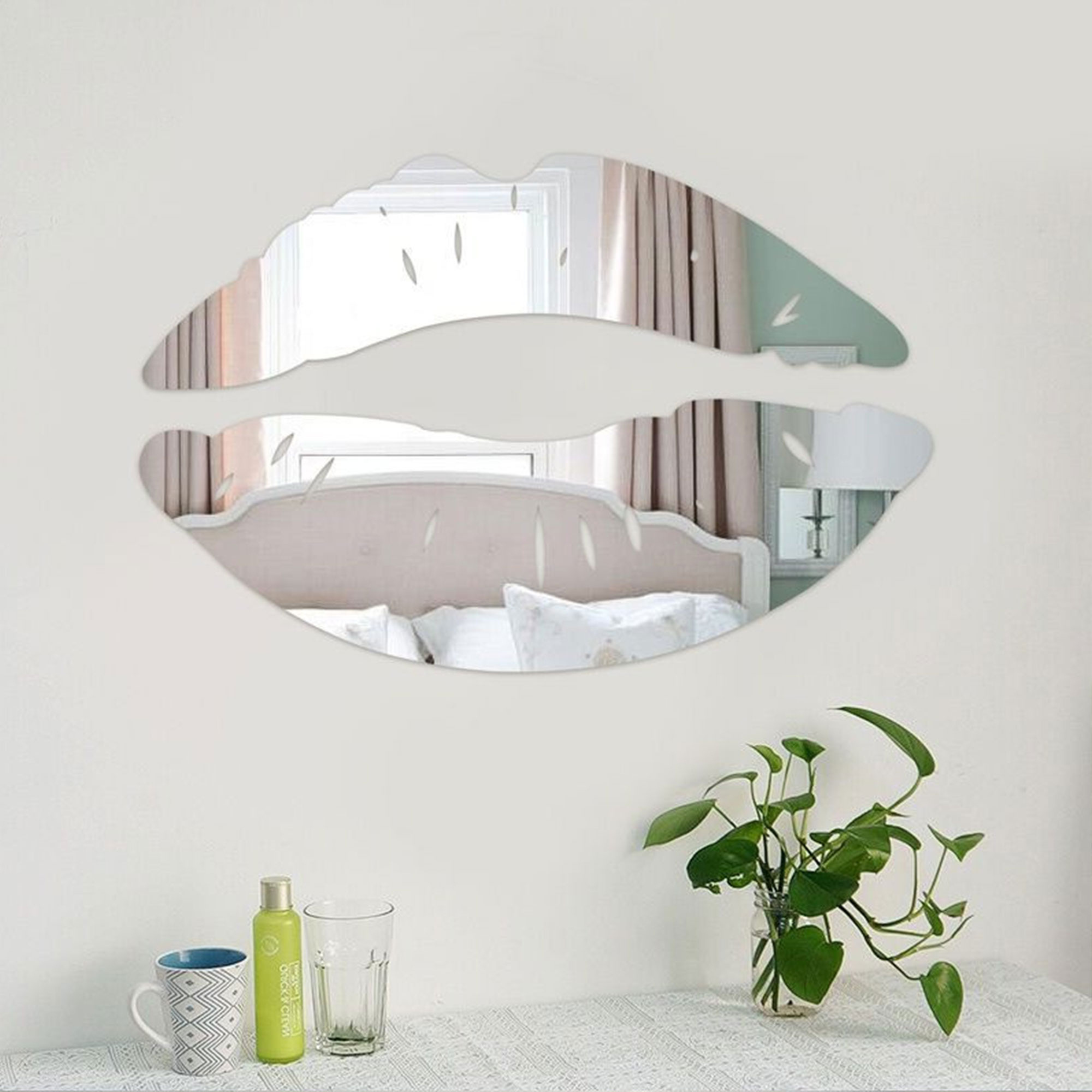 Trendy Acrylic Wall Mirrors Regarding Details About Acrylic Wall Mirror Stickers 3D Lip Art Mural Decal Home Rome Decor Removable Uk (Gallery 20 of 20)
