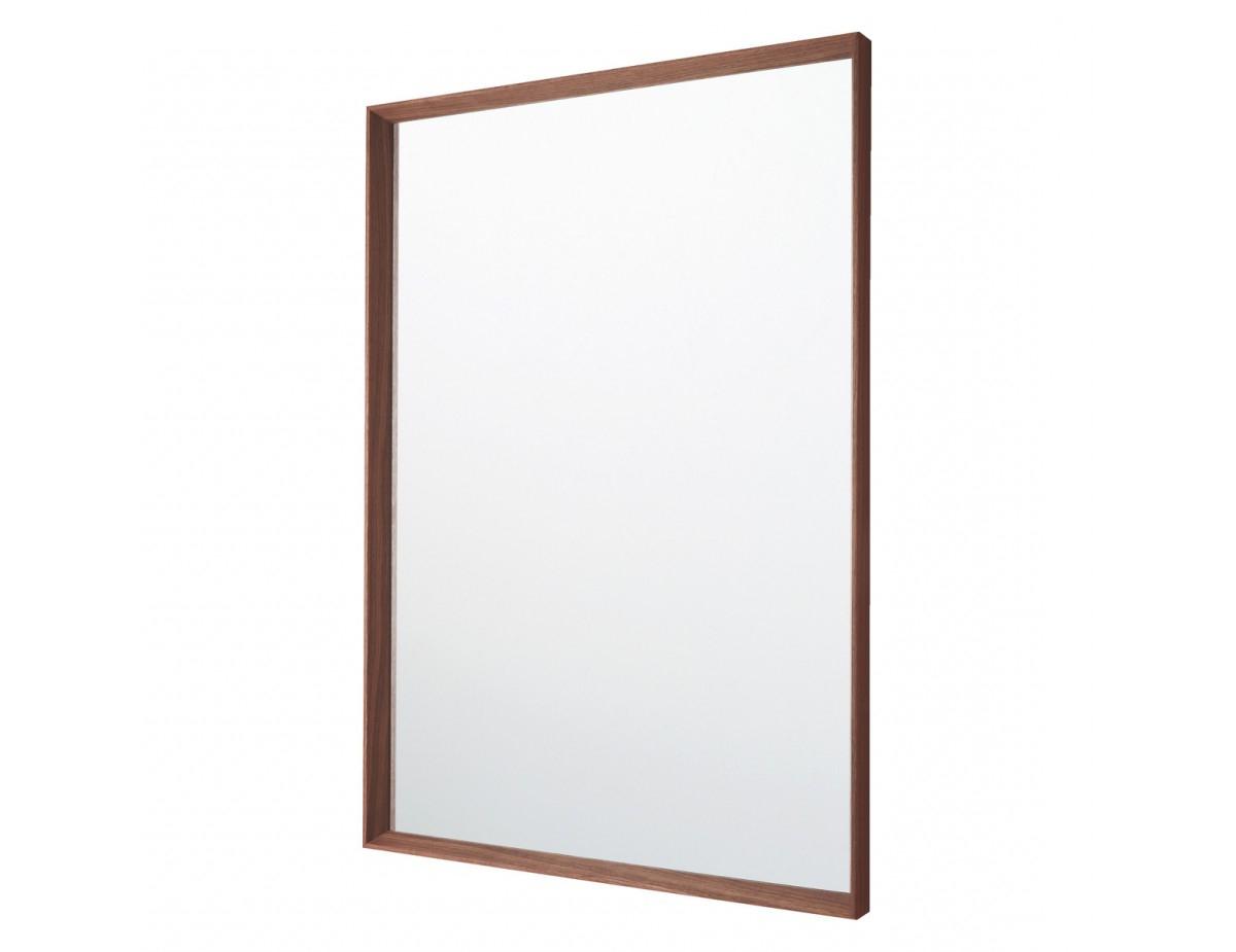Trendy Agatha 70 X 100cm Walnut Rectangular Wall Mirror In Walnut Wood Wall Mirrors (View 14 of 20)
