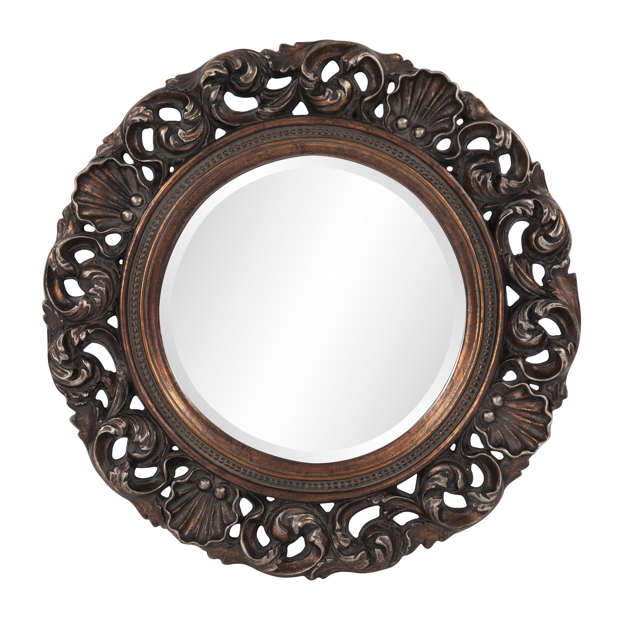 Trendy Alcmene Round Wall Mirror Regarding Alissa Traditional Wall Mirrors (View 15 of 20)