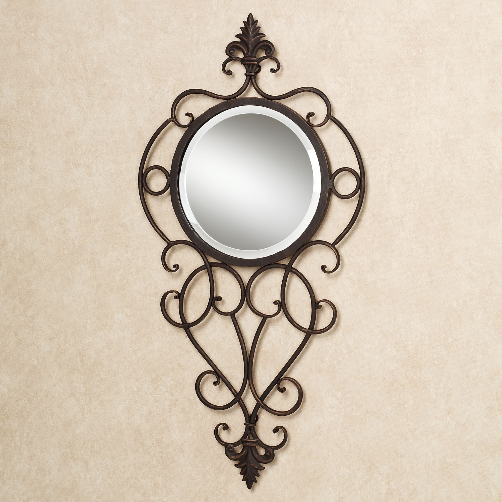 Trendy Antique Wrought Iron Wall Mirror • Bathroom Mirrors And Wall In Wrought Iron Wall Mirrors (View 8 of 20)