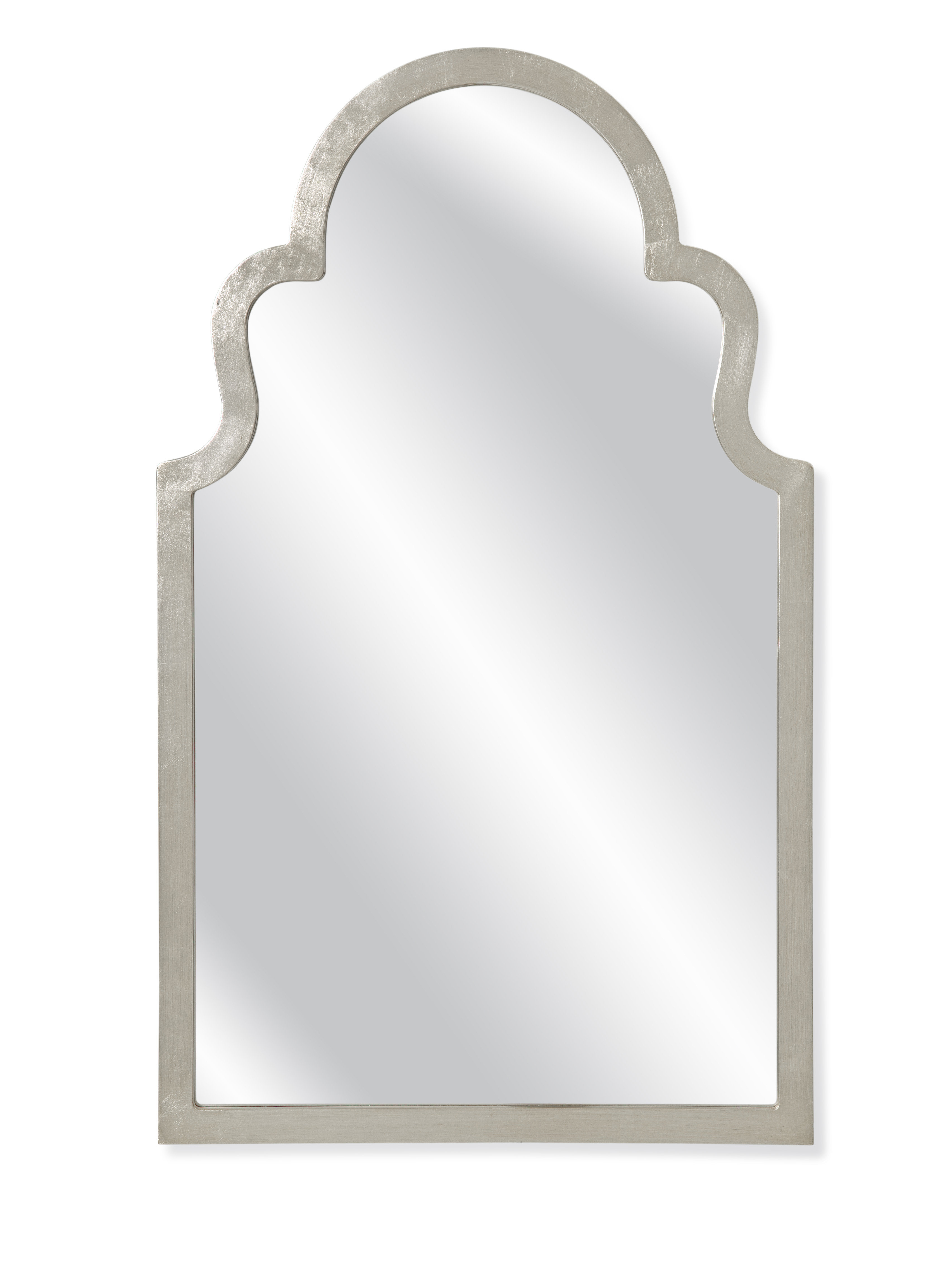 Trendy Arch Top Vertical Wall Mirror Intended For Dariel Tall Arched Scalloped Wall Mirrors (View 17 of 20)
