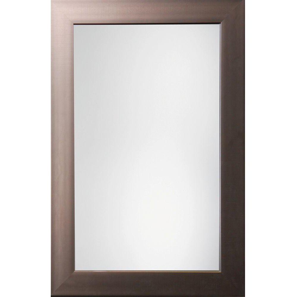 Trendy Austin 36 In. X 24 In. Pewter Traditional Beveled Framed Mirror With Regard To Traditional Square Glass Wall Mirrors (Gallery 8 of 20)