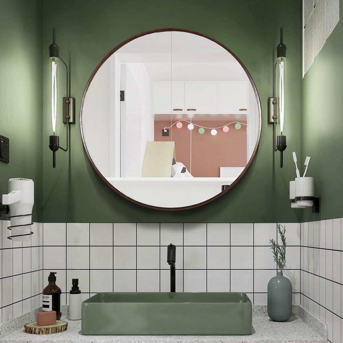 Trendy Big Round Wall Mirrors Throughout Tinytimes (View 16 of 20)