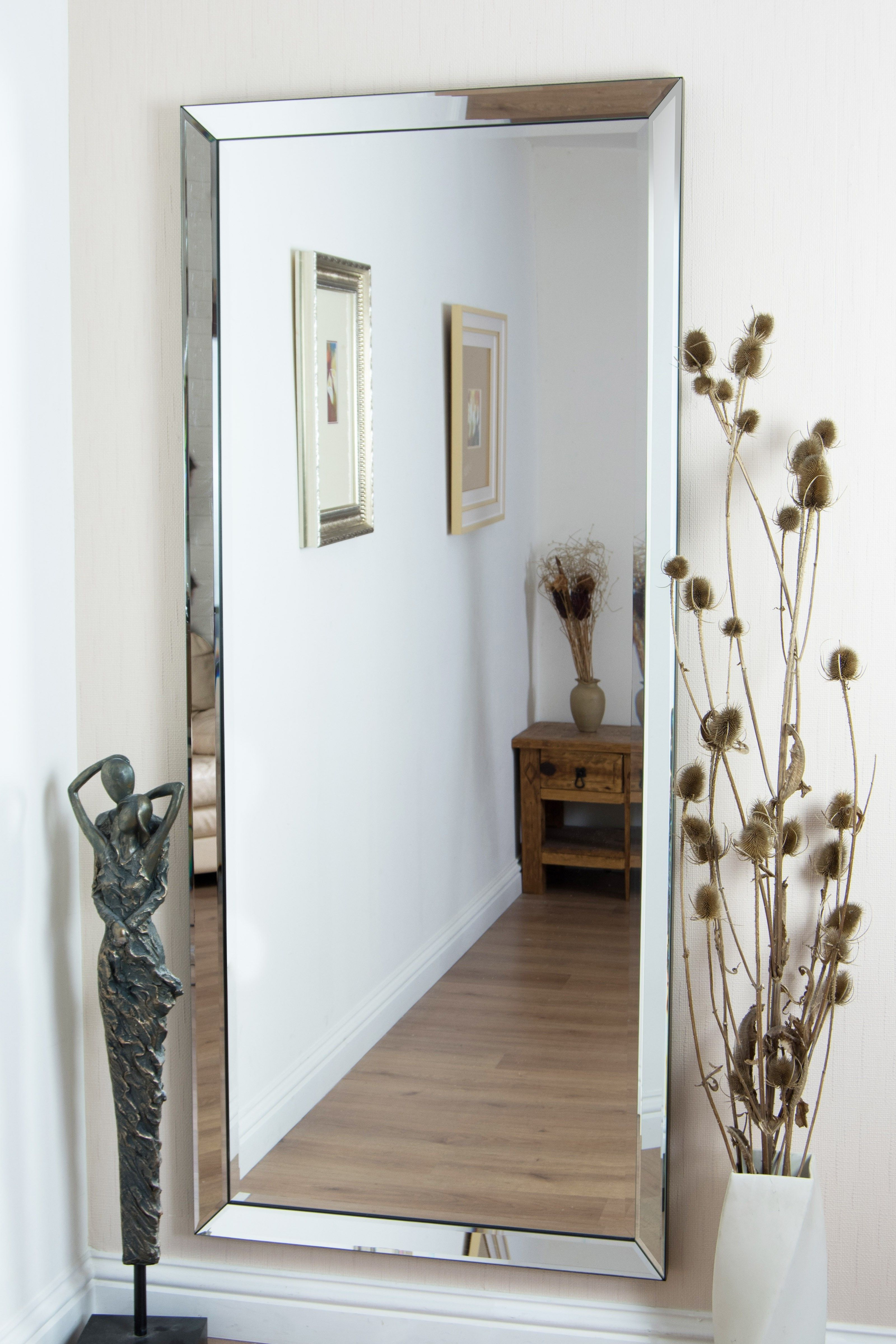 Trendy Big Wall Mirrors With Regard To Hang Mirror On Wall Frameless (View 4 of 20)