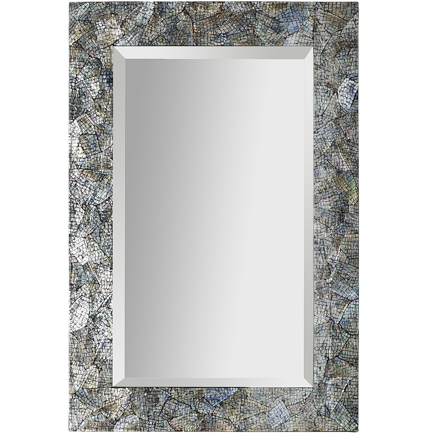 Trendy Crackled Mother Of Pearl Mirror – 32x (View 10 of 20)