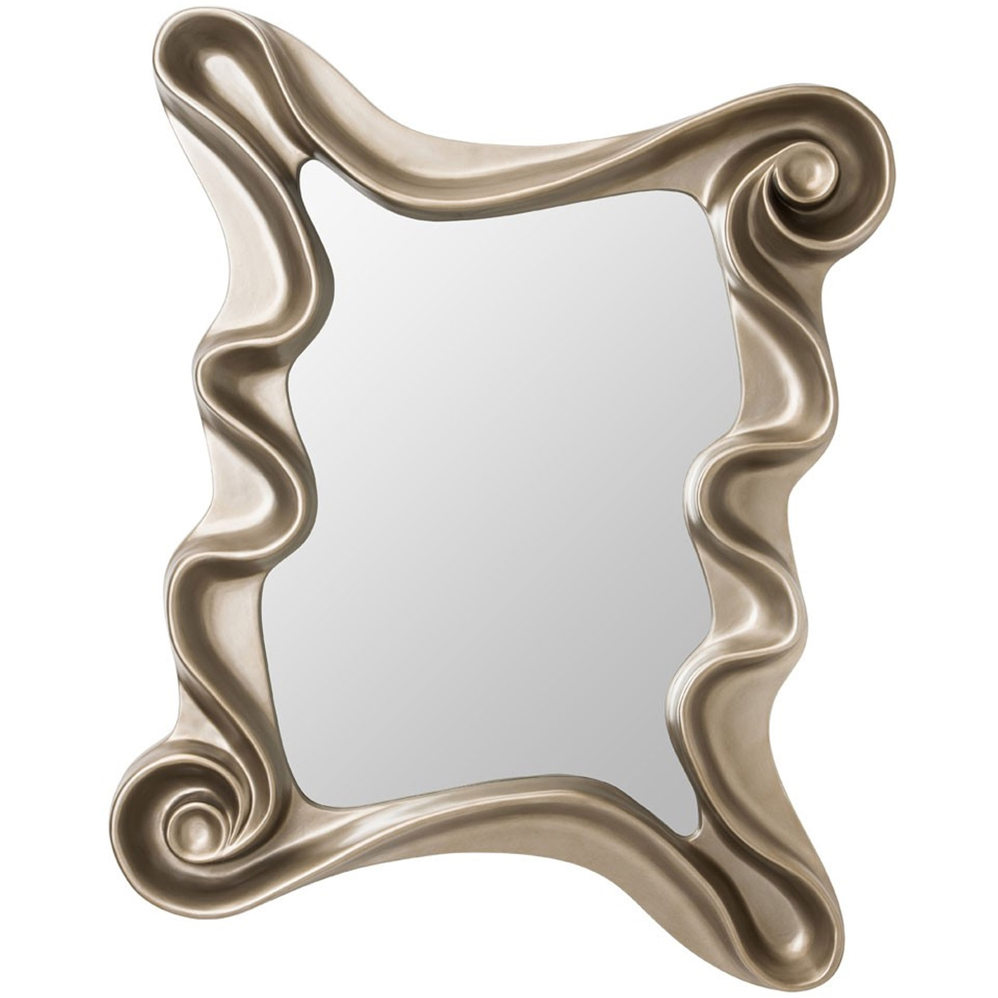 Trendy Cream Alaia Wall Mirror Throughout Funky Wall Mirrors (View 19 of 20)