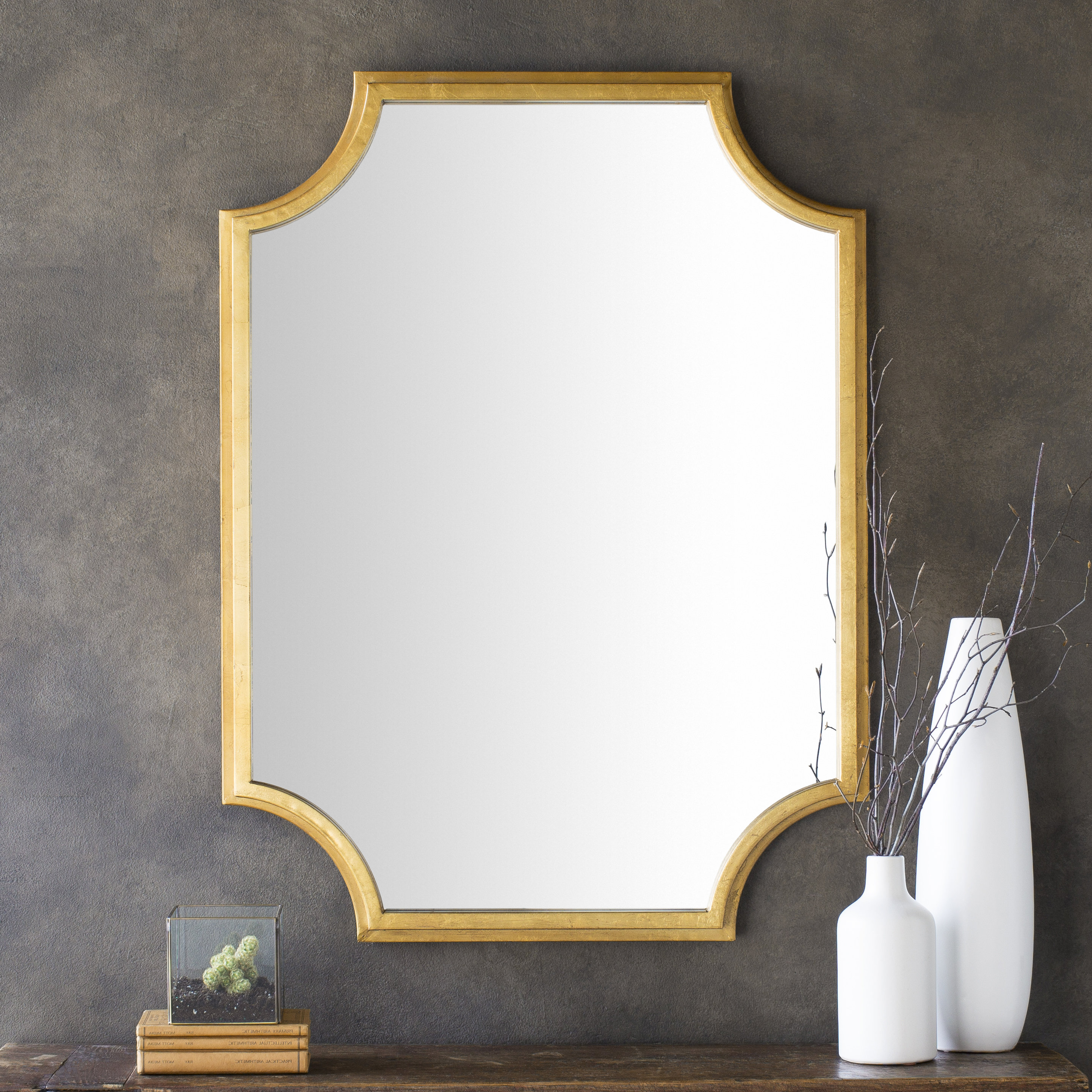 Trendy Danica Metallic Accent Traditional Wall Mirror Inside Astrid Modern & Contemporary Accent Mirrors (View 10 of 20)