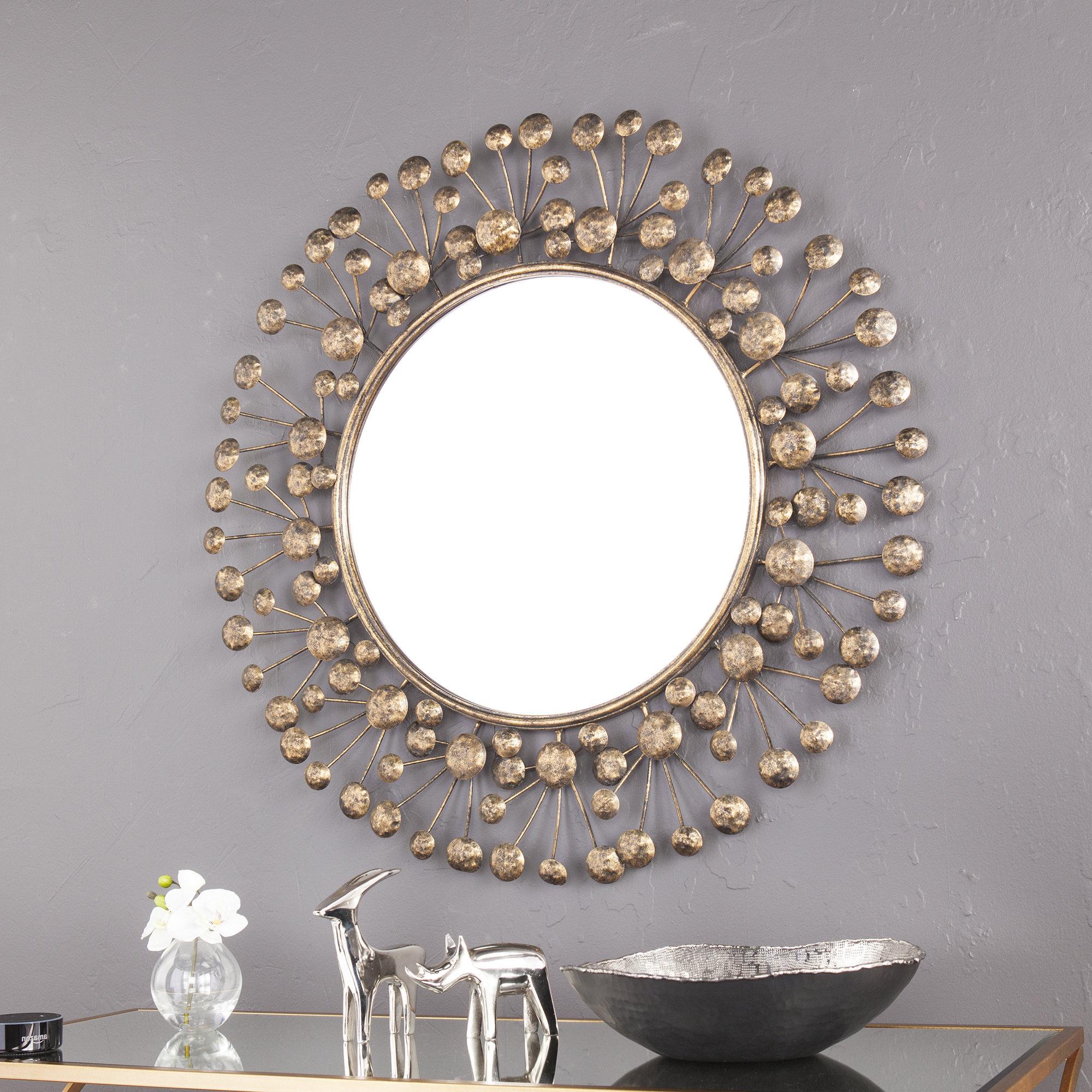 Trendy Decorative Round Wall Mirrors Regarding Details About Brayden Studio Eisenbarth Oversized Decorative Round Wall  Mirror (View 19 of 20)