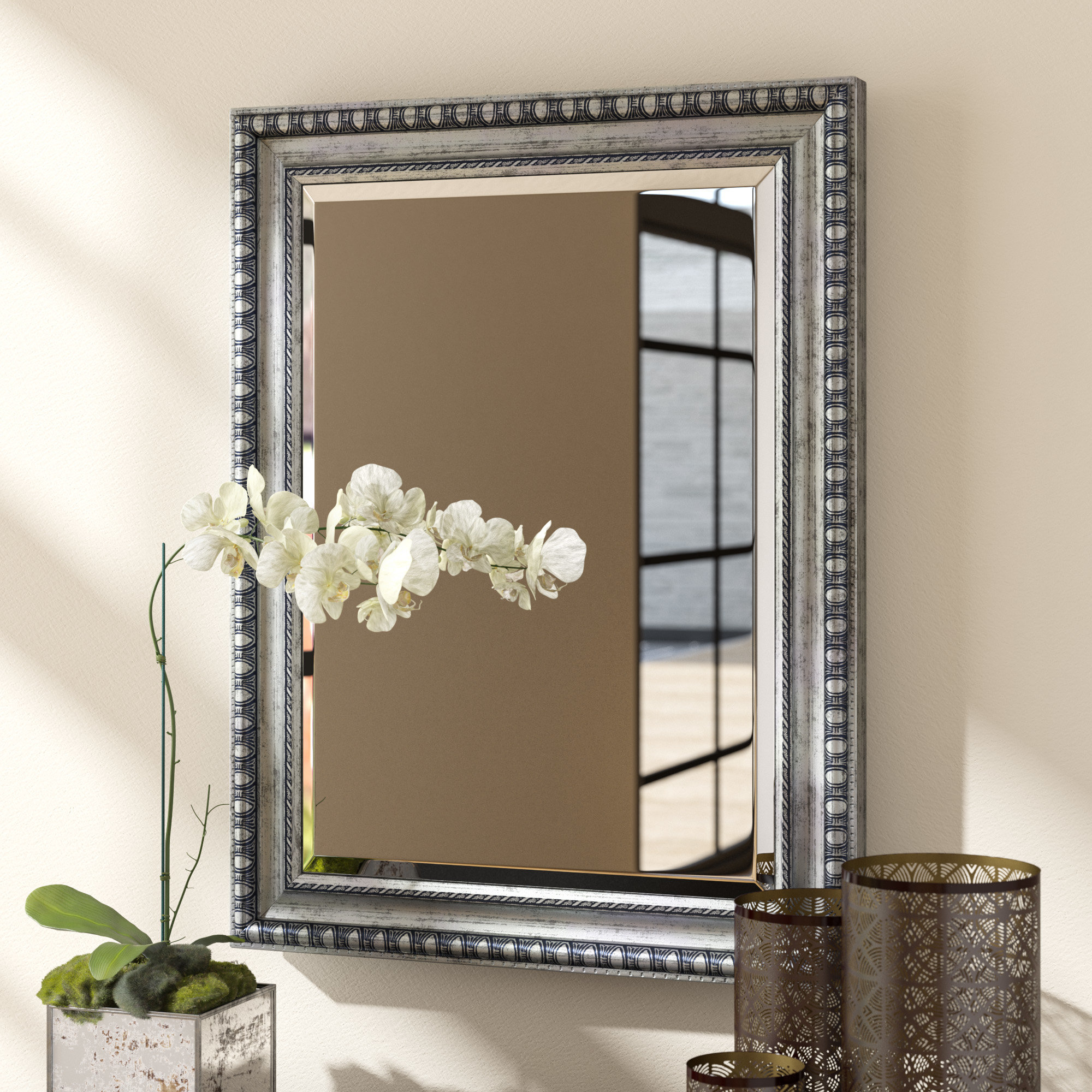 Trendy Epinal Shabby Elegance Wall Mirrors In Eriq Framed Wall Mirror (View 4 of 20)