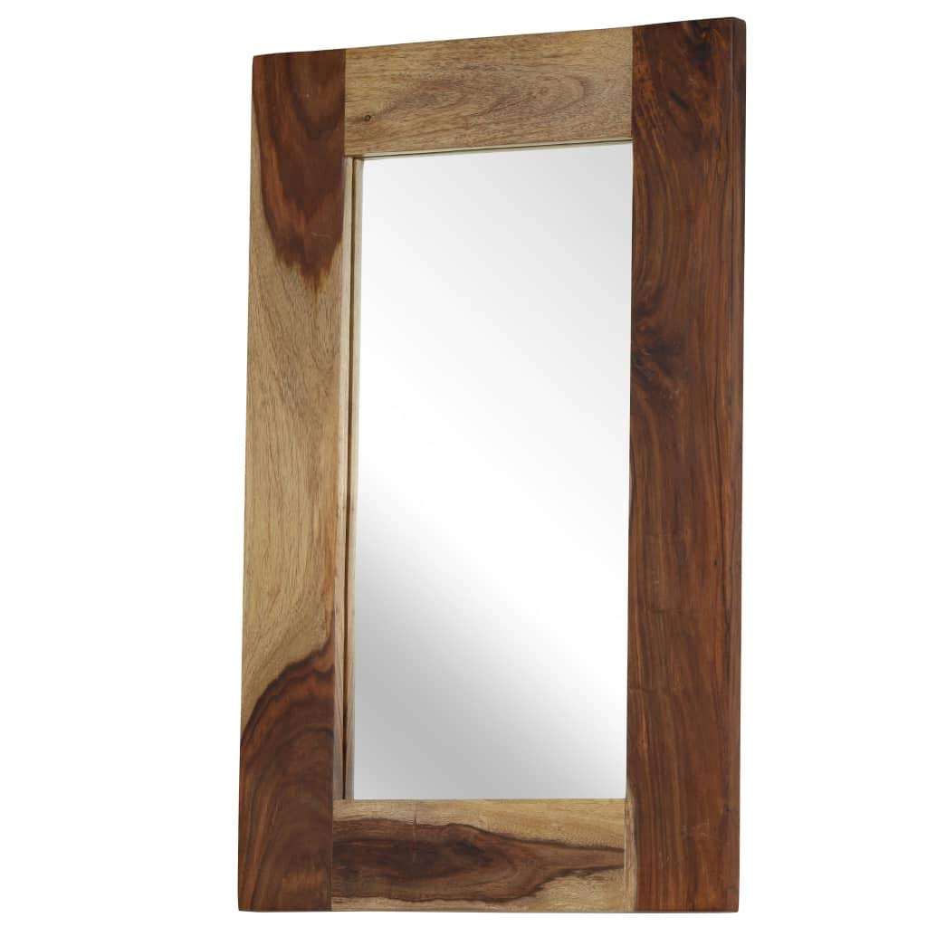 Trendy Fesjoy Wall Mirror Natural Wood Framed Wall Mirror Handmade Large Throughout Large Wood Framed Wall Mirrors (View 14 of 20)