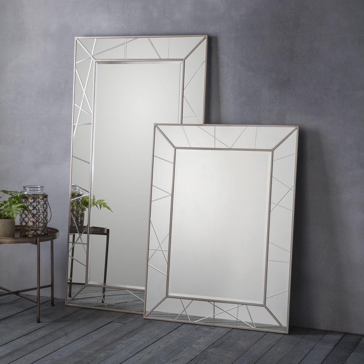 Trendy Floor To Wall Mirrors With Regard To All Glass Geometric Wall & Floor Standing Mirrors (View 4 of 20)