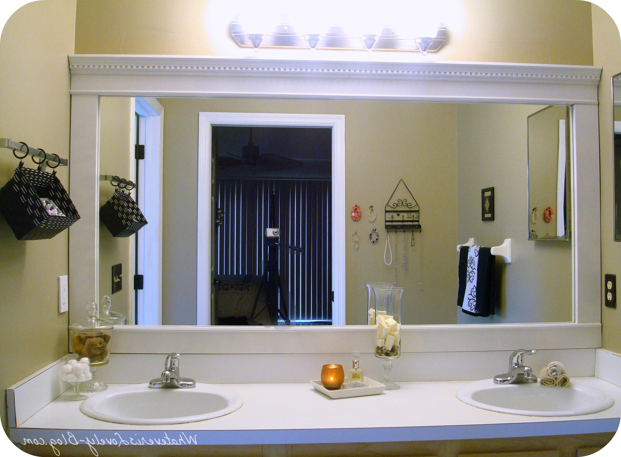 Trendy Framed Bathroom Mirrors Also Small Decorative Mirrors Also In Large White Framed Wall Mirrors (View 13 of 20)
