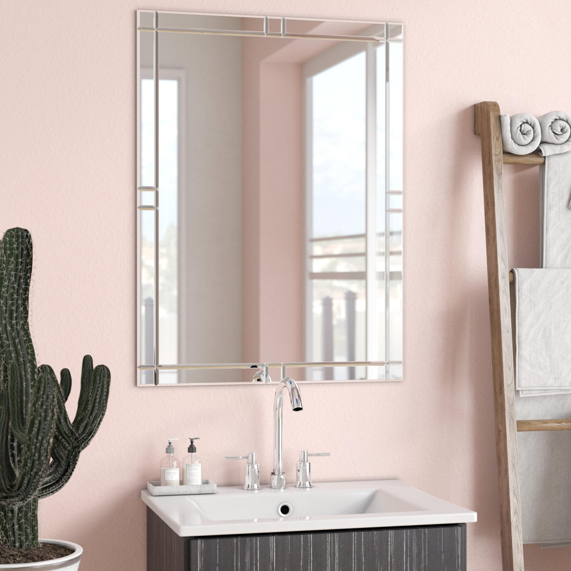 Trendy Full Length Frameless Wall Mirrors Inside Frameless Wall Mirror (View 19 of 20)