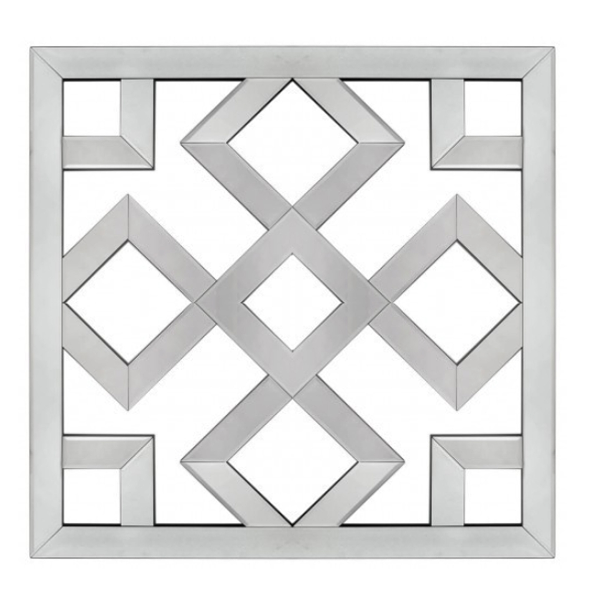 Trendy Geometric Wall Mirrors Throughout Mirrored Geometric Wall Art (View 7 of 20)