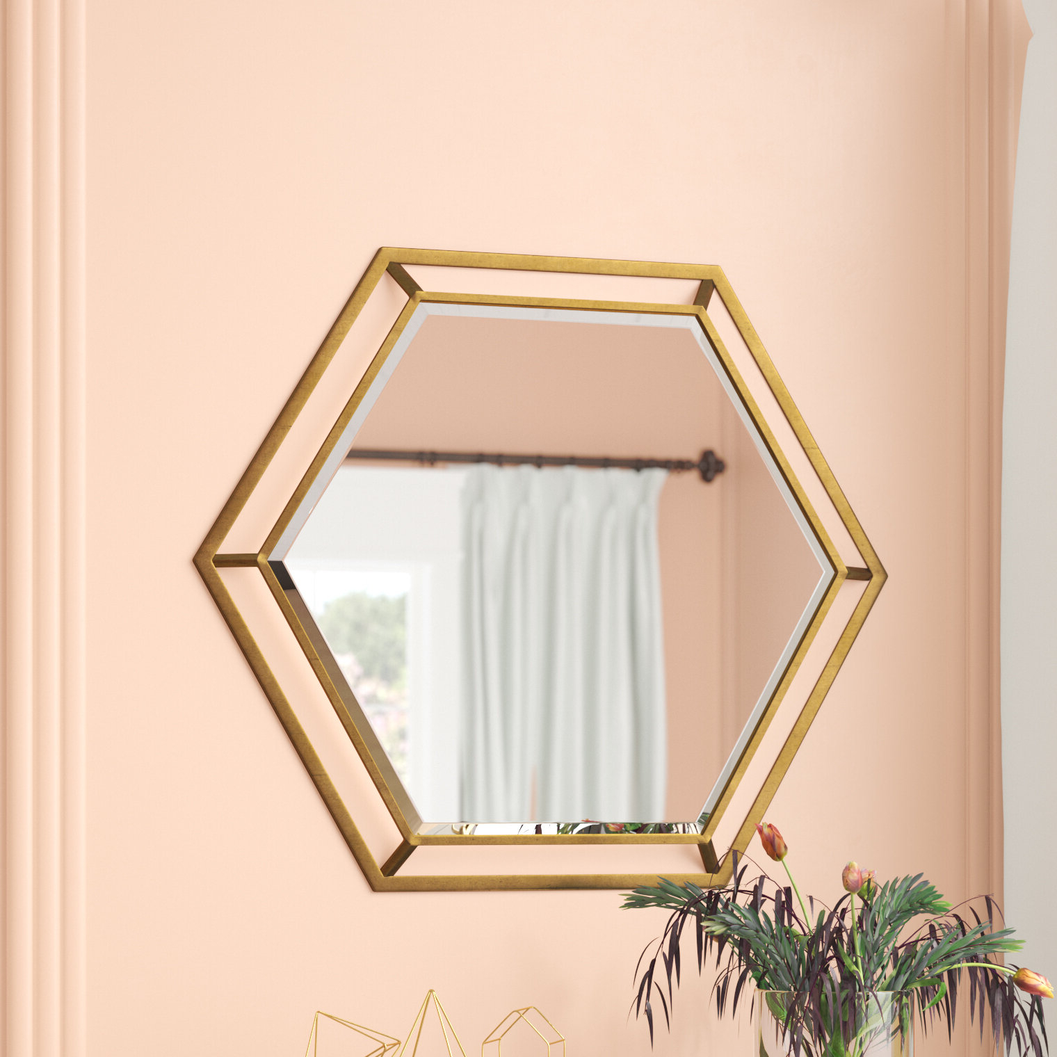 Trendy Gia Hexagon Accent Mirrors For Kelston Mills Modern & Contemporary Beveled Accent Mirror (View 15 of 20)