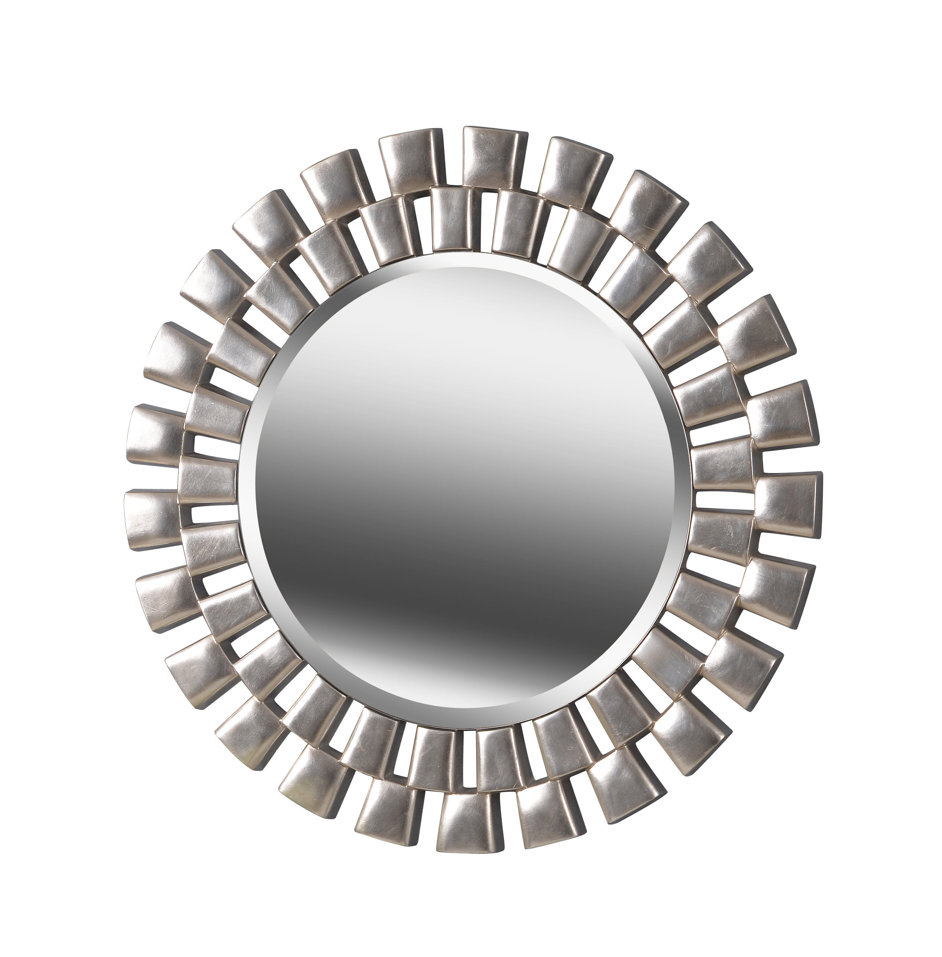 Trendy Glam Beveled Accent Mirror With Deniece Sunburst Round Wall Mirrors (View 9 of 20)