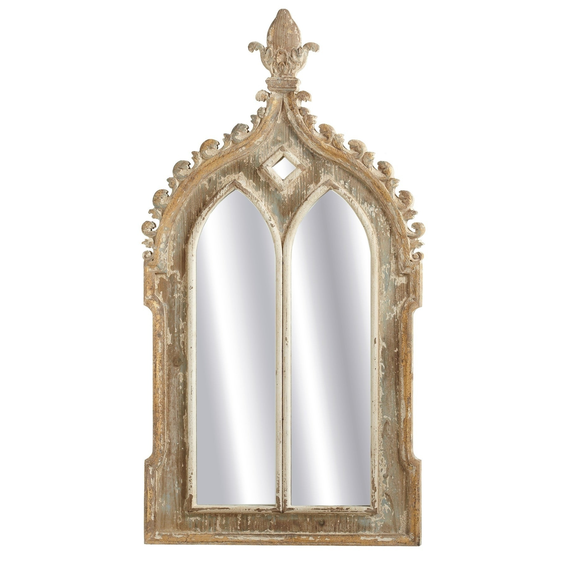 Trendy Gold Arch Wall Mirrors Inside Midwest Cbk Gold Framed Double Arch Wall Mirror (View 16 of 20)