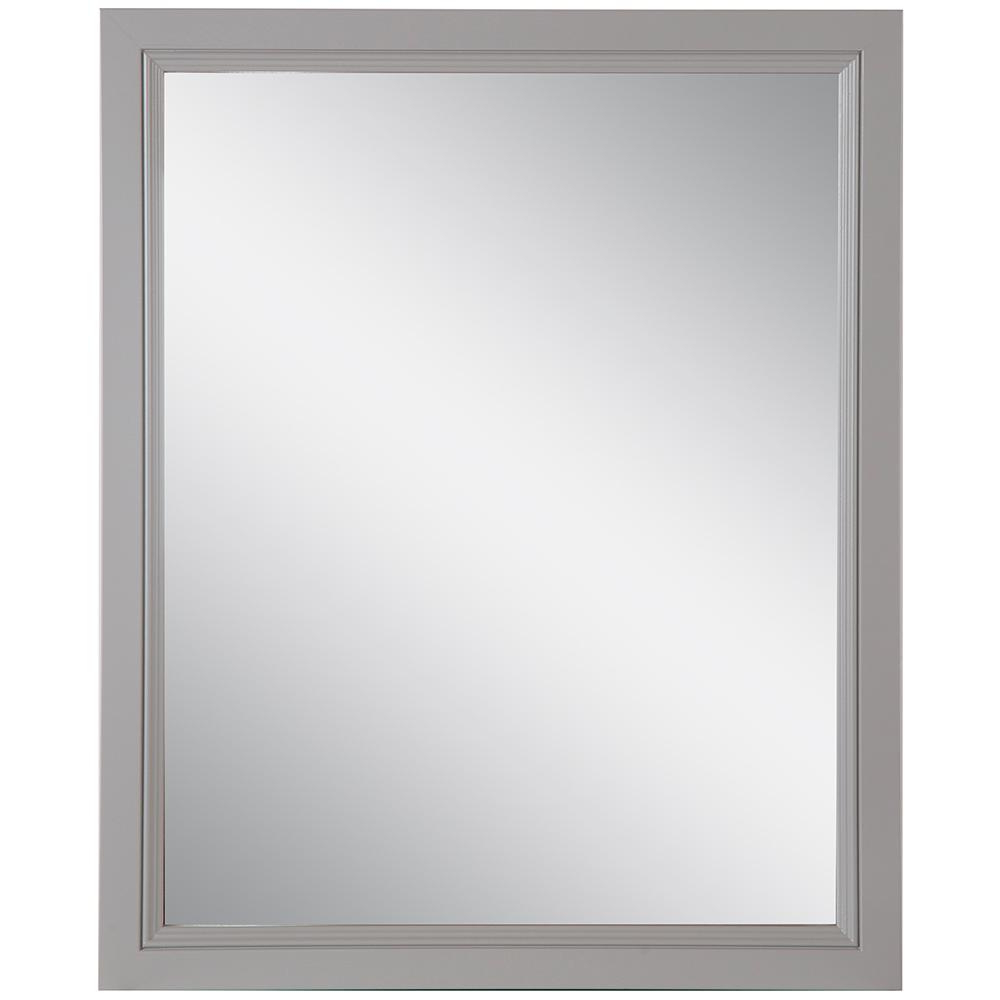 Trendy Home Decorators Collection Teasian 25.67 In. W X 31.38 In. H Framed Wall  Mirror In Sterling Gray With Regard To Traditional Square Glass Wall Mirrors (Gallery 16 of 20)
