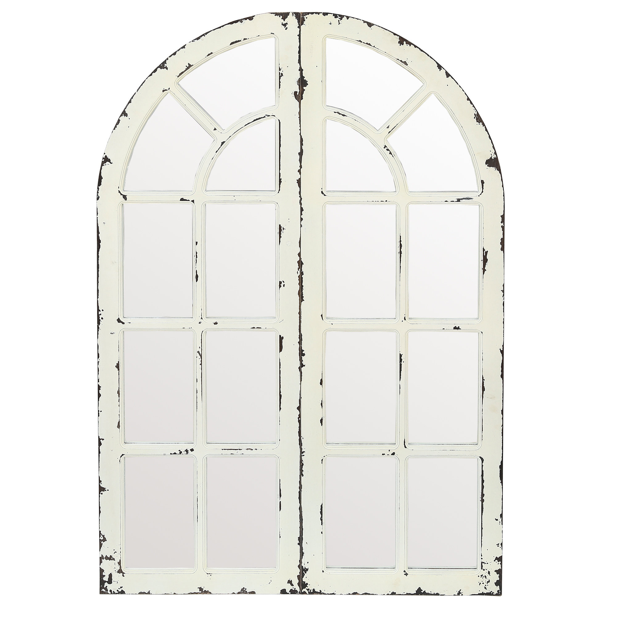 Trendy Hovis Window Panels Accent Mirror Intended For Lajoie Rustic Accent Mirrors (View 16 of 20)
