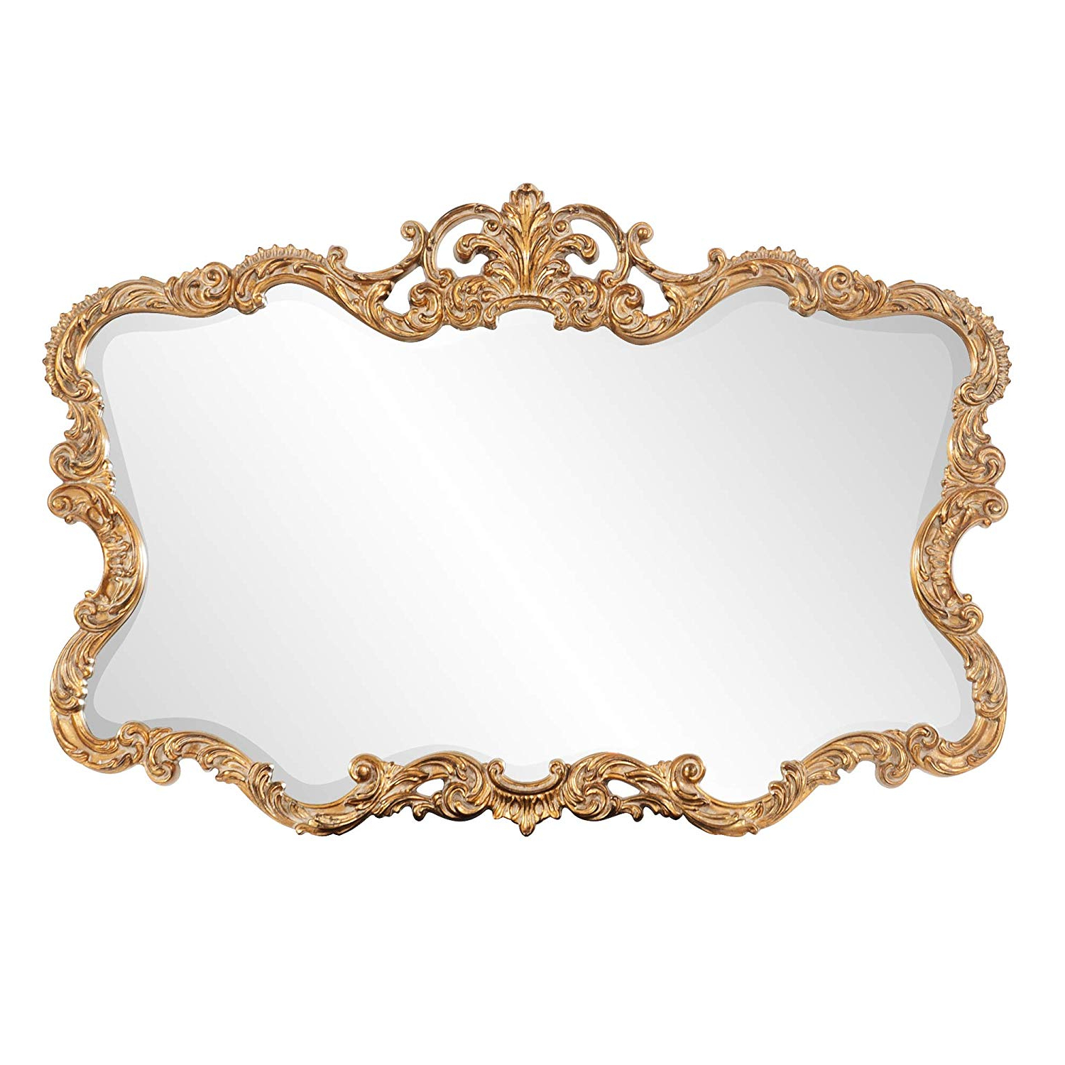 Trendy Howard Elliott Talida Mirror, Ornate Wall Focal Point, Resin Frame, Gold,  27 Inch X 38 Inch X 1 Inch Pertaining To Talida Wall Mirrors (View 1 of 20)
