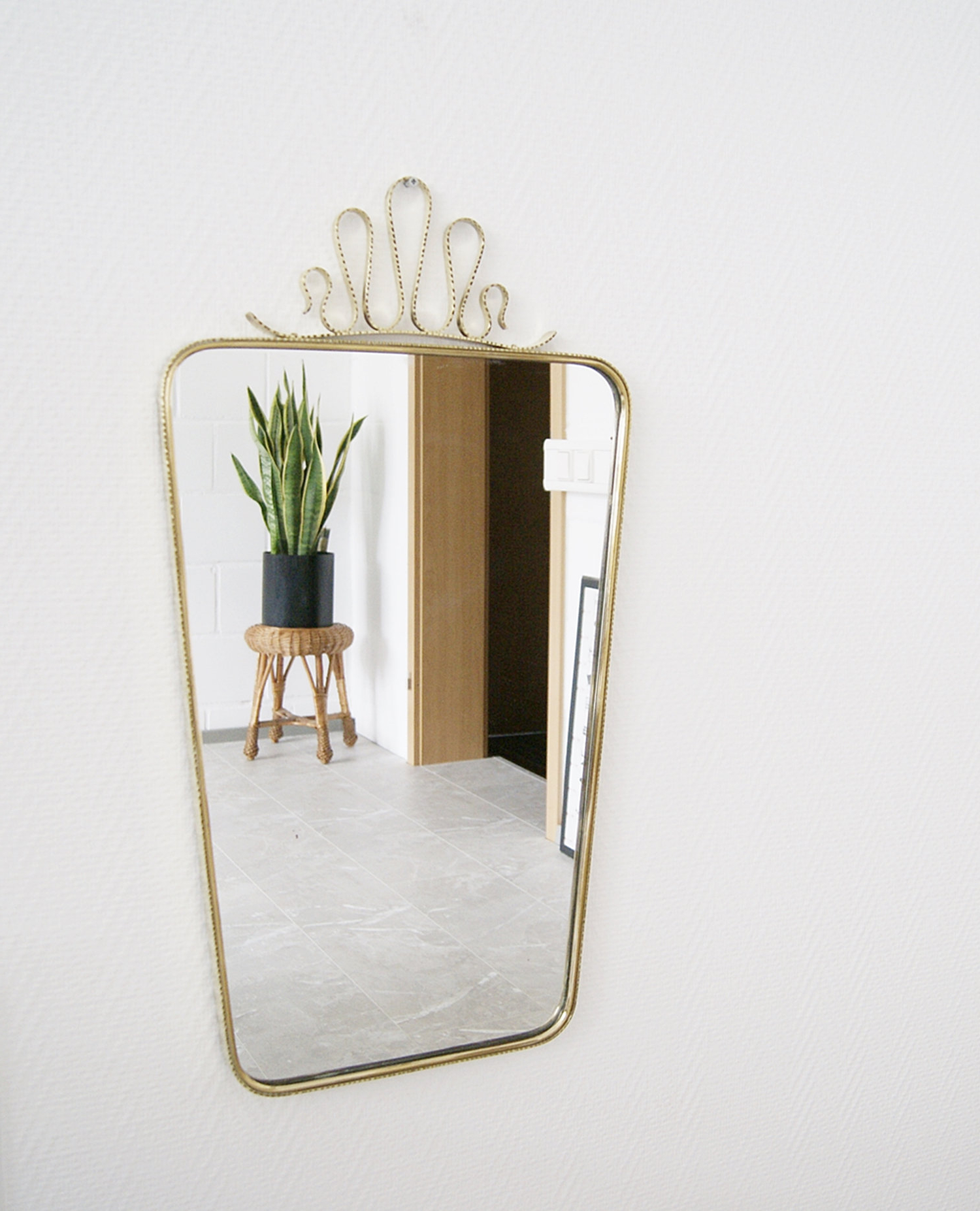Trendy Huge Wall Mirrors Inside Mid Century Brass Mirror, Large Wall Mirror, Mirror Framed Gold (View 15 of 20)