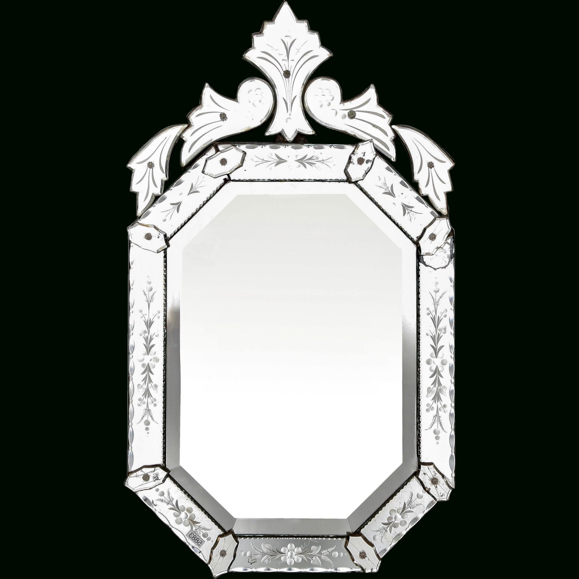 Trendy Italian 1940S Octagonal Venetian Mirror With Decorative Etching With Decorative Etched Wall Mirrors (View 16 of 20)