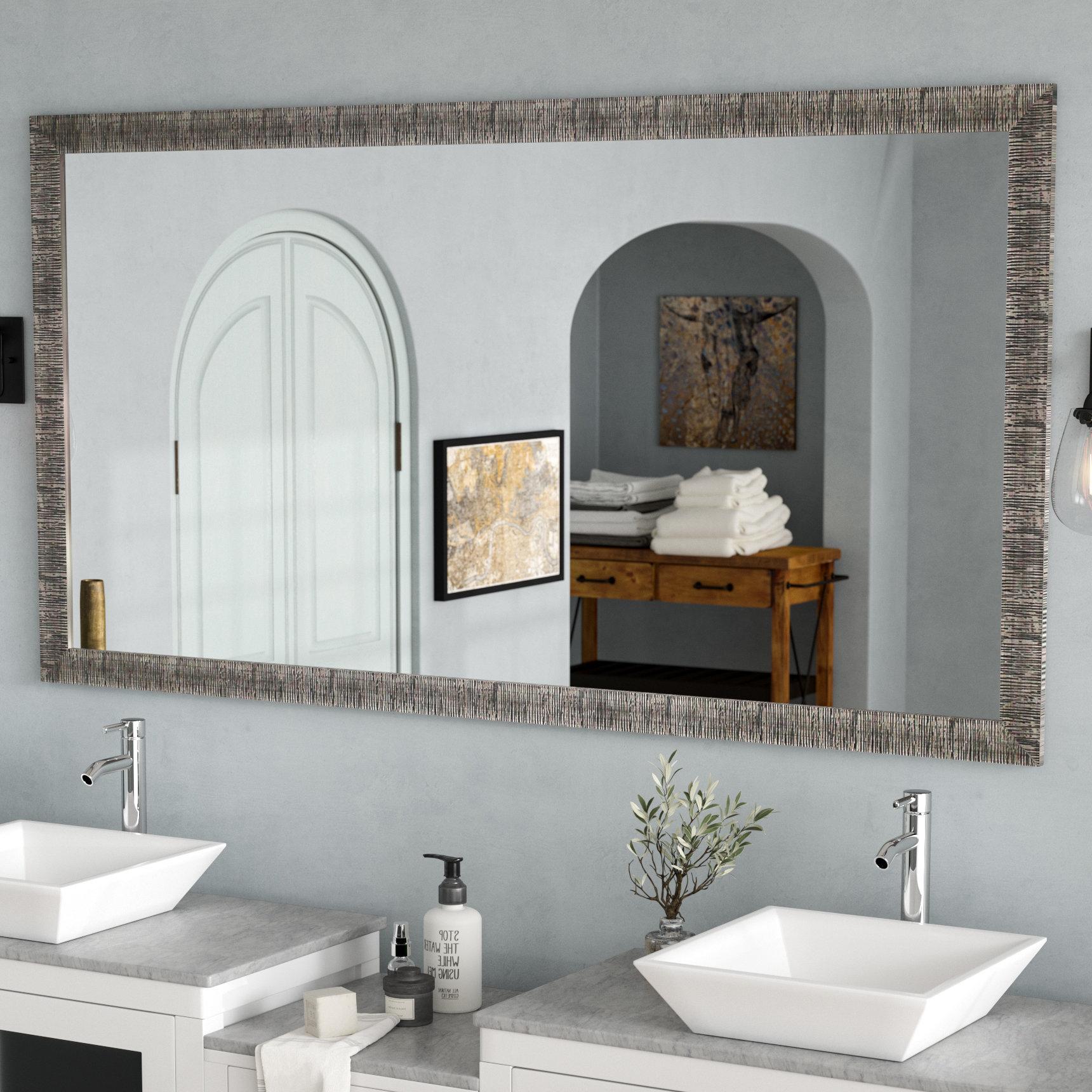 Trendy Landover Rustic Distressed Bathroom/vanity Mirrors Throughout Eisen Bathroom/vanity Mirror (View 18 of 20)