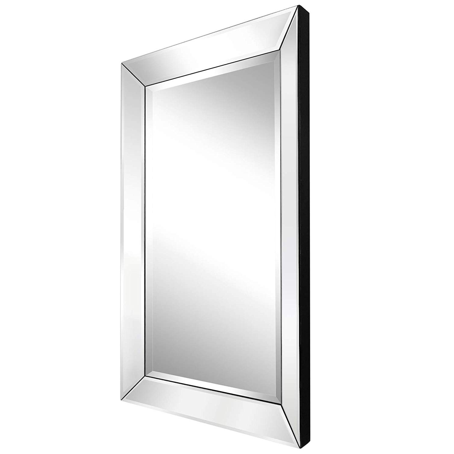 "Trendy Large Wall Mirrors For Bedroom Intended For Mirror Trend 24""X36"" Large Prism Beveled Wall Mirrors For Bathroom Mirrors Decorative Wall Mirror For Bedroom Silver Mirror For Hall And (View 18 of 20)"
