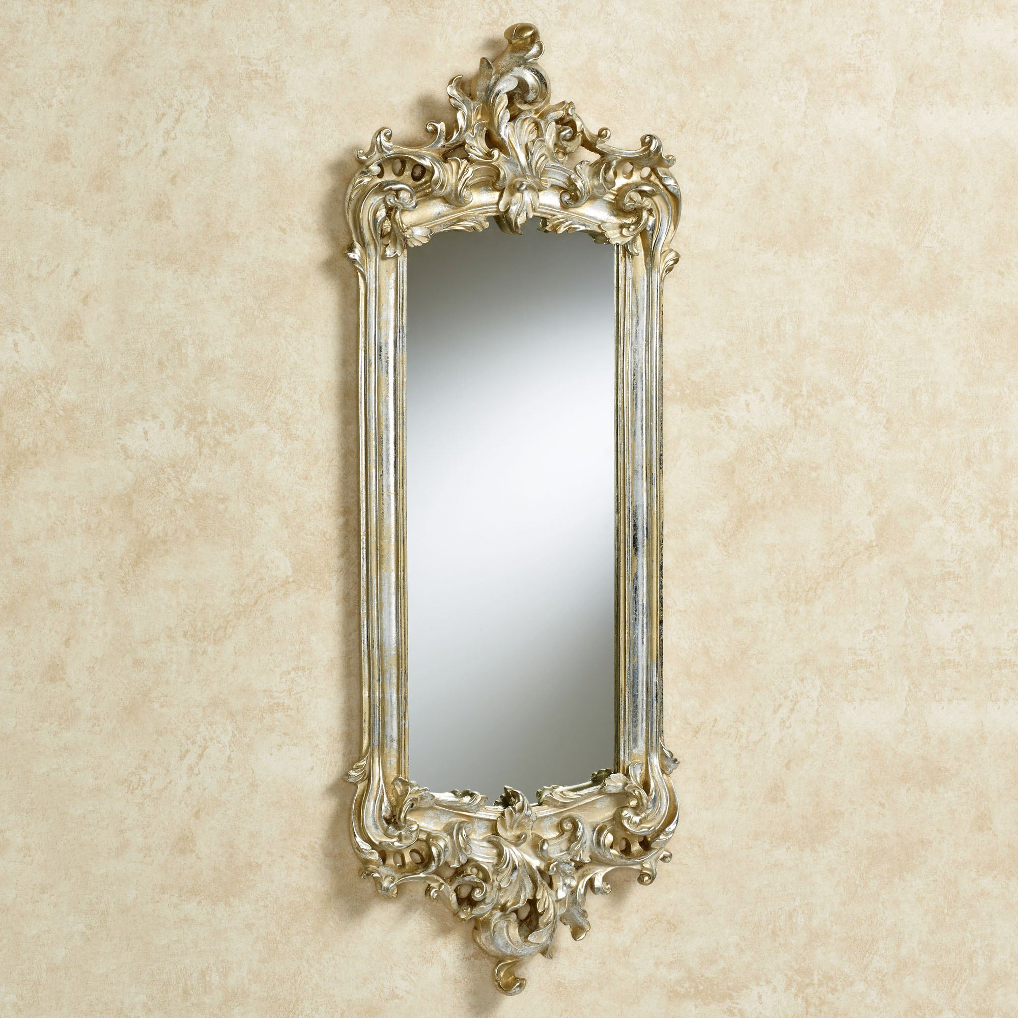 Trendy Lela Silver Gold Acanthus Wall Mirror Inside Silver Framed Wall Mirrors (View 17 of 20)