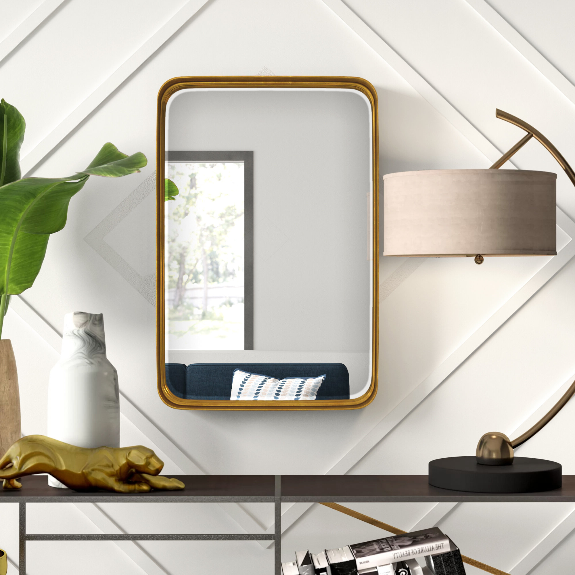 Trendy Lugo Rectangle Accent Mirrors For Mercury Row Lugo Rectangle Accent Mirror (View 1 of 20)