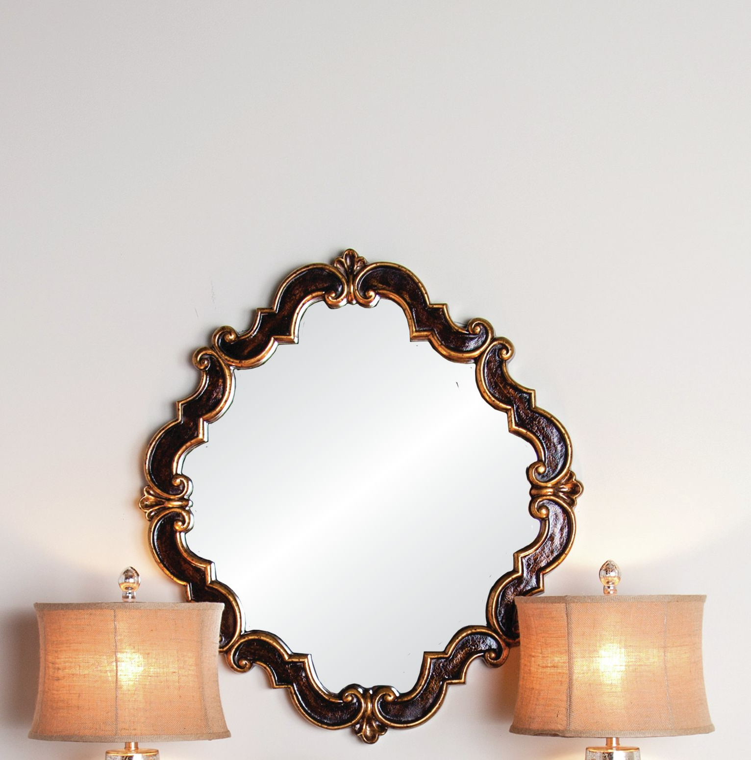 Trendy Mandurah Medallion Accent Mirror Intended For Medallion Accent Mirrors (View 8 of 20)