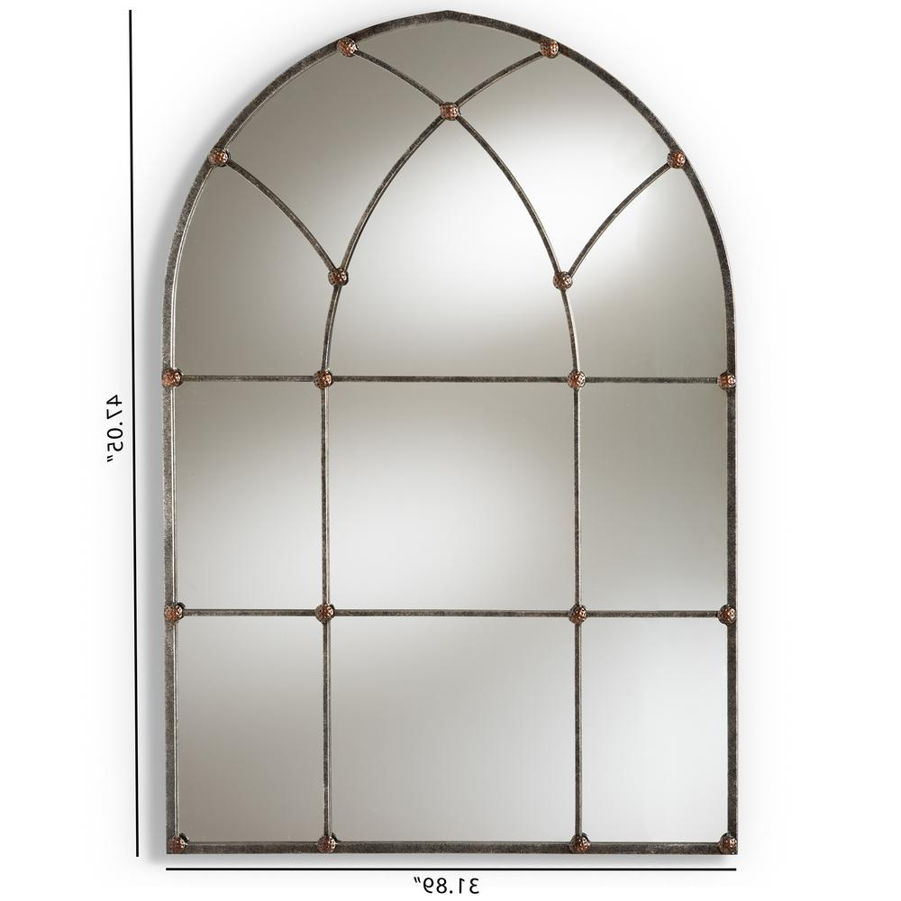 Trendy Metal Arch Window Wall Mirrors For Tova Antique Silver Wall Mirror (Gallery 20 of 20)