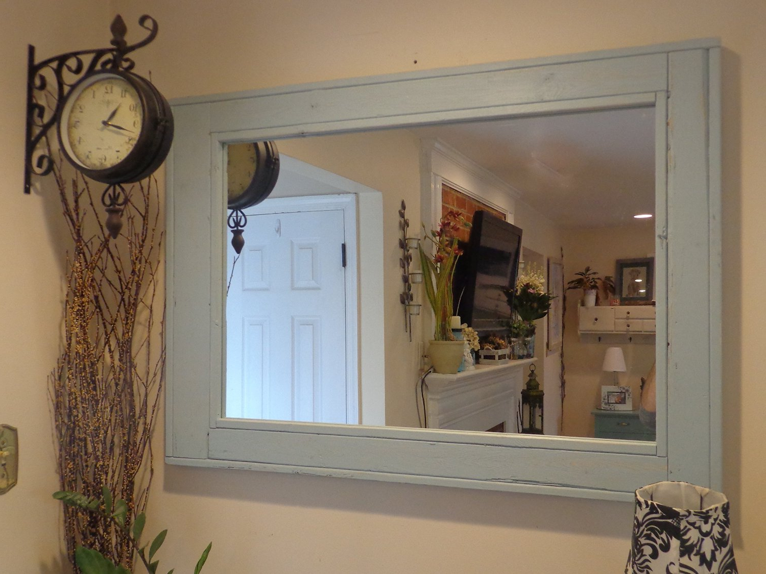 Trendy Mirror Large Cabinet Ideas Oval Furniture Stand Lowes Inside Large Wood Wall Mirrors (View 20 of 20)