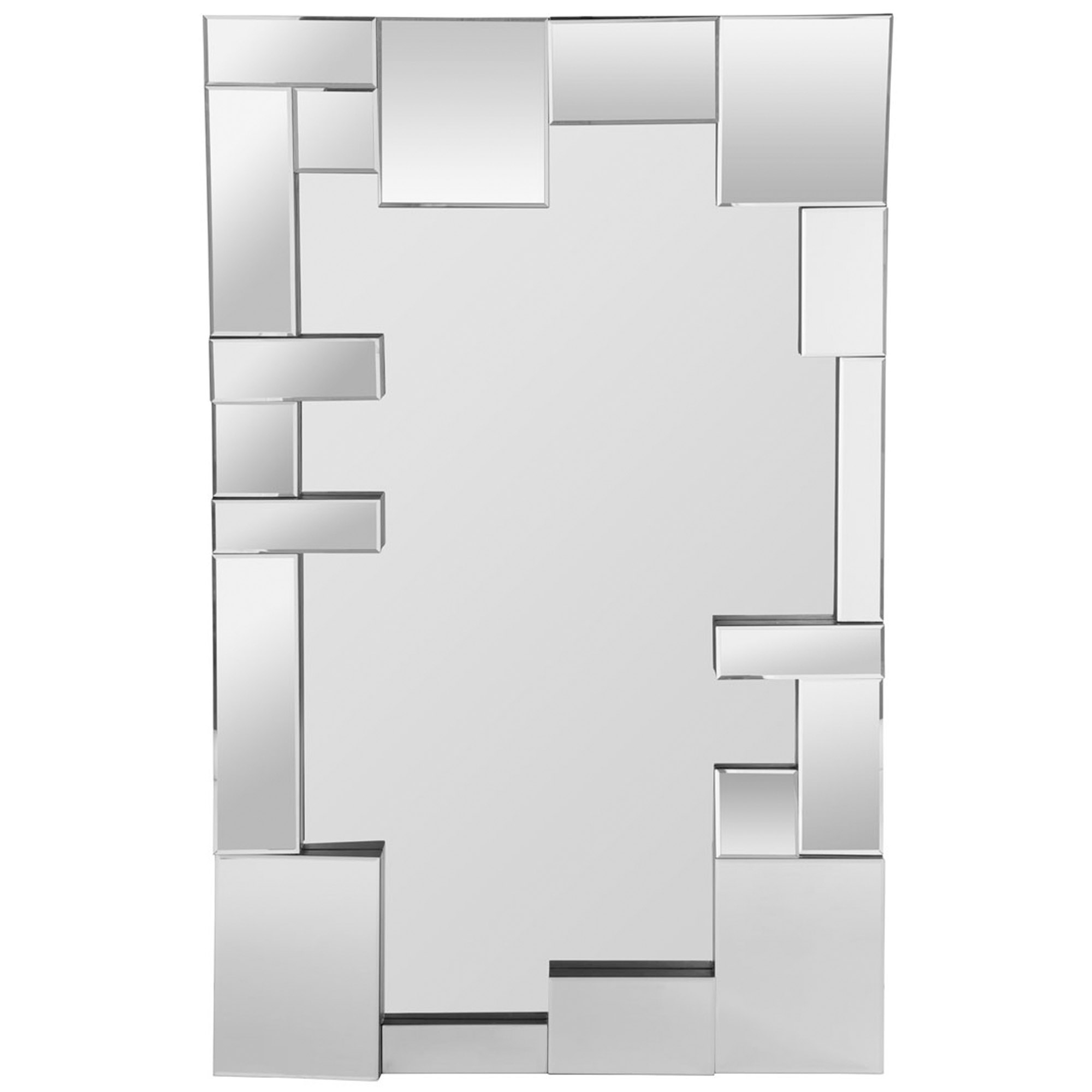 Trendy Modern Black Wall Mirrors Pertaining To Large Abstract Wall Mirror (Gallery 13 of 20)