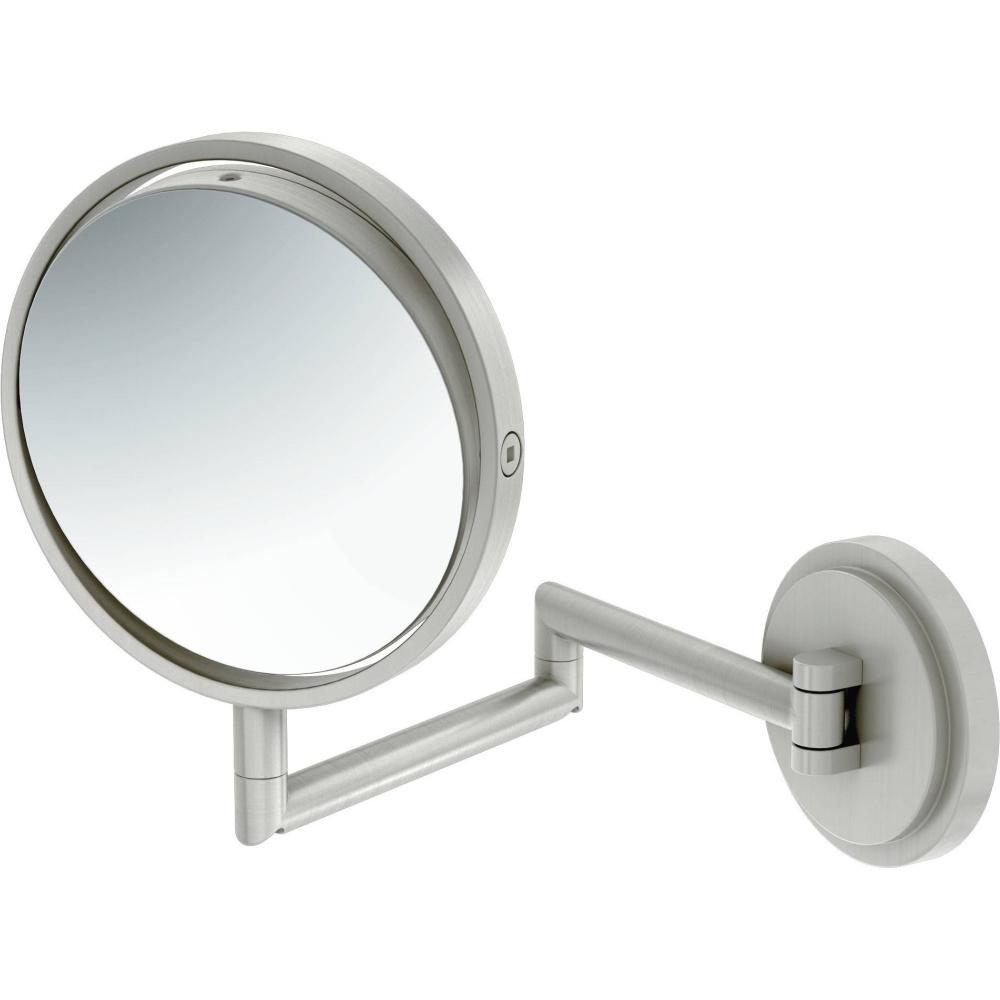Trendy Moen Yb0892bn Arris Brushed Nickel Wall Mount Mirror Regarding Brushed Nickel Wall Mirrors (View 7 of 14)