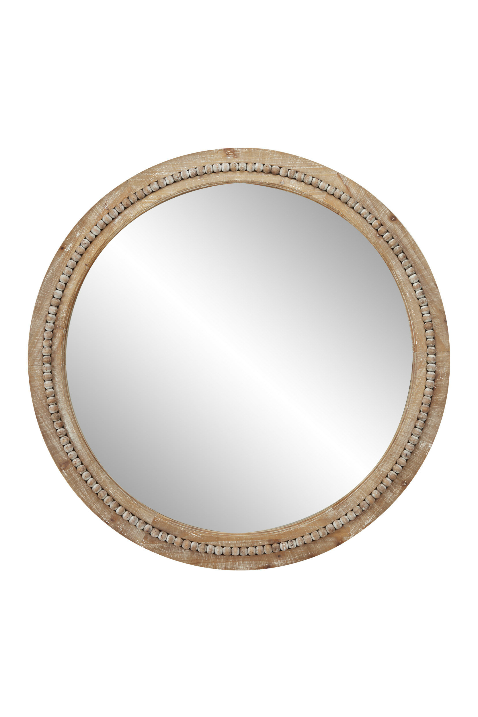 Trendy Oakton Round Wood Accent Mirror With Regard To Wood Accent Mirrors (View 12 of 20)