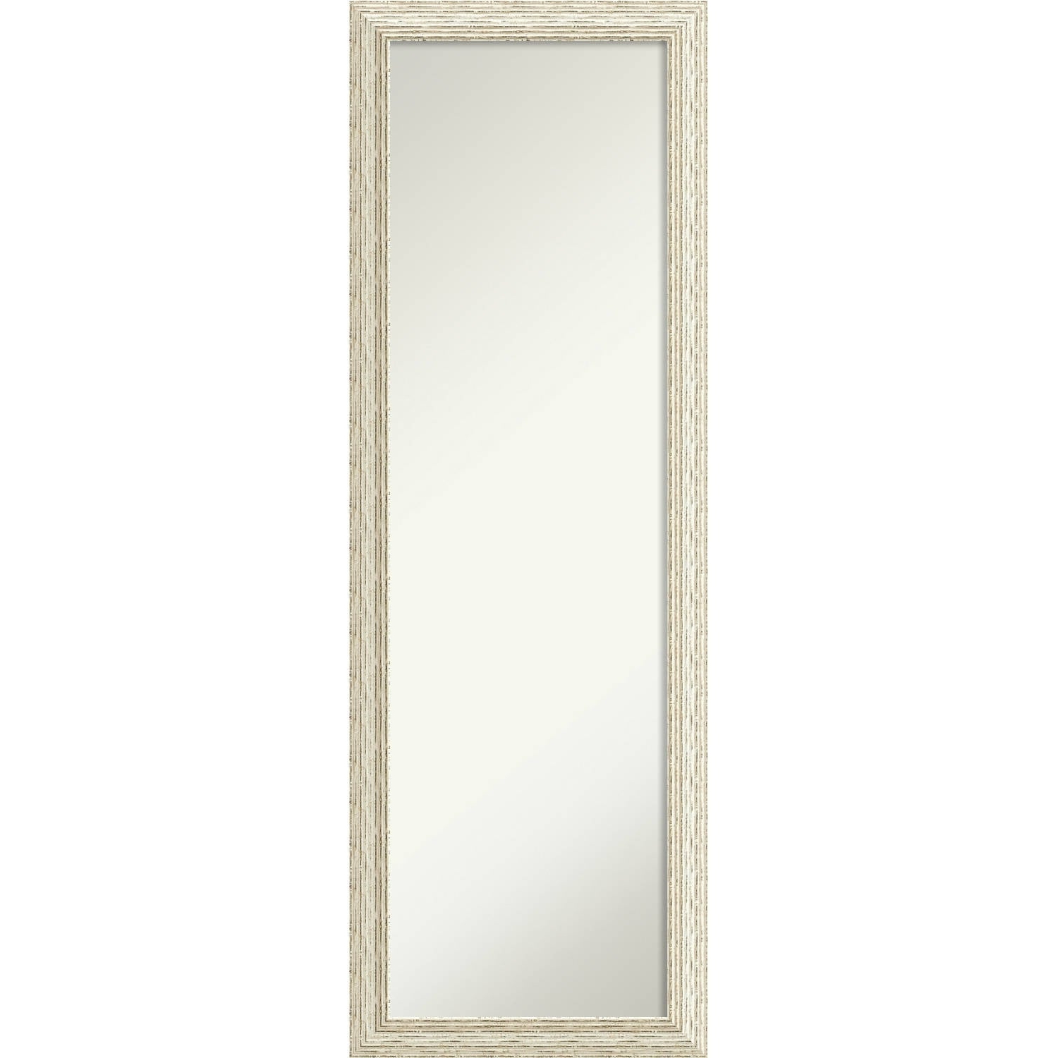 Trendy On The Door Full Length Wall Mirror, Cape Cod White Wash 18 X 52 Inch – White Washed – 51.38 X 17.38 X (View 9 of 20)