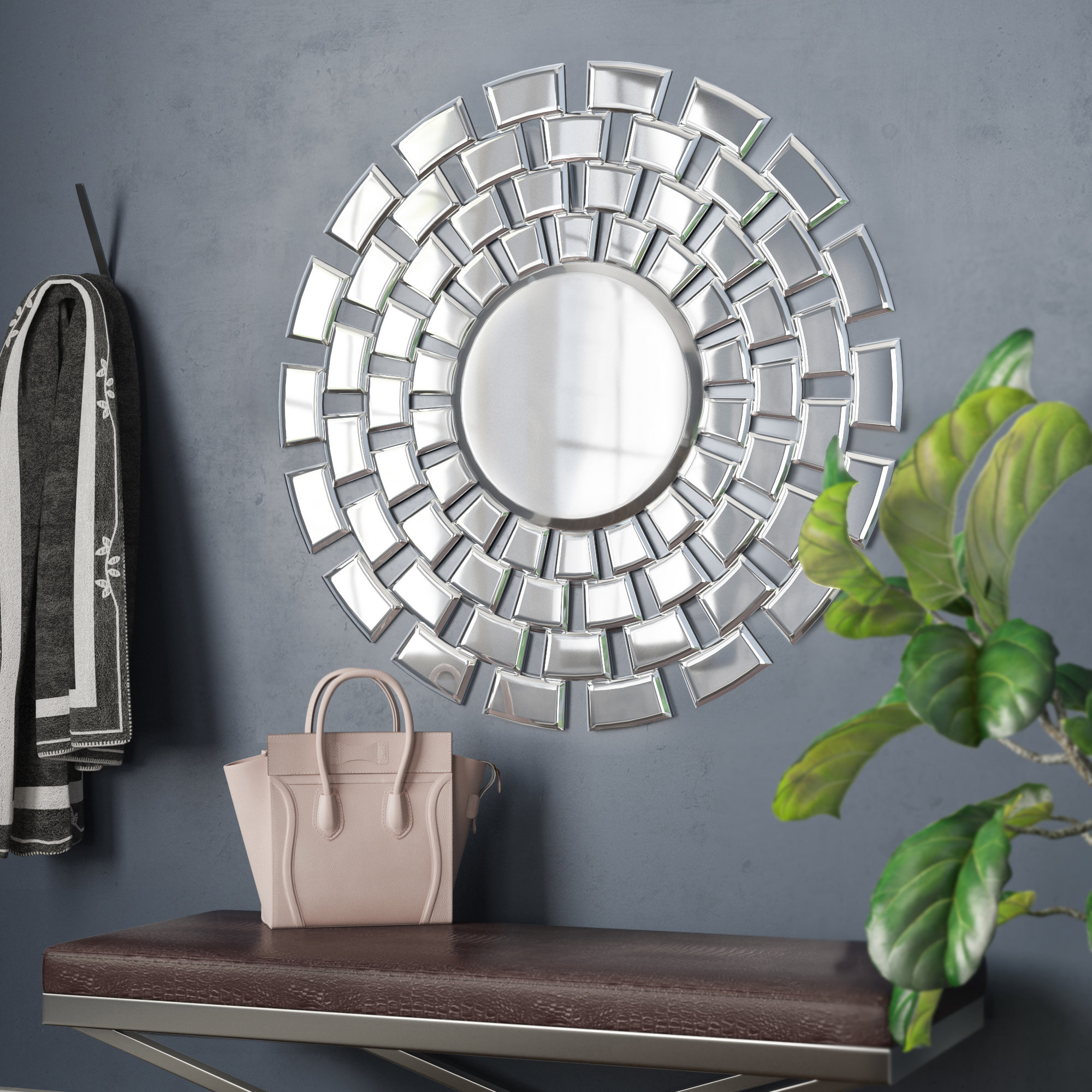 Trendy Pennsburg Round Accent Wall Mirror Inside Pennsburg Rectangle Wall Mirrors (View 18 of 20)