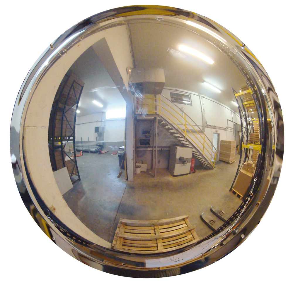Trendy Polymir Unbreakable Half Sphere 180 Degree Industrial Dome Mirrors For Wall Mounting Inside Unbreakable Wall Mirrors (View 10 of 20)