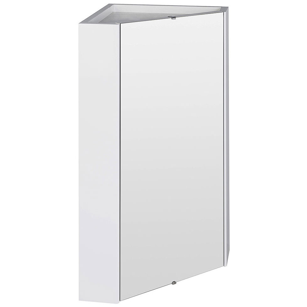 Trendy Premier Mayford High Gloss White 459mm Corner Mirror Cabinet Inside Bathroom Wall Mirror Cabinets (View 14 of 20)