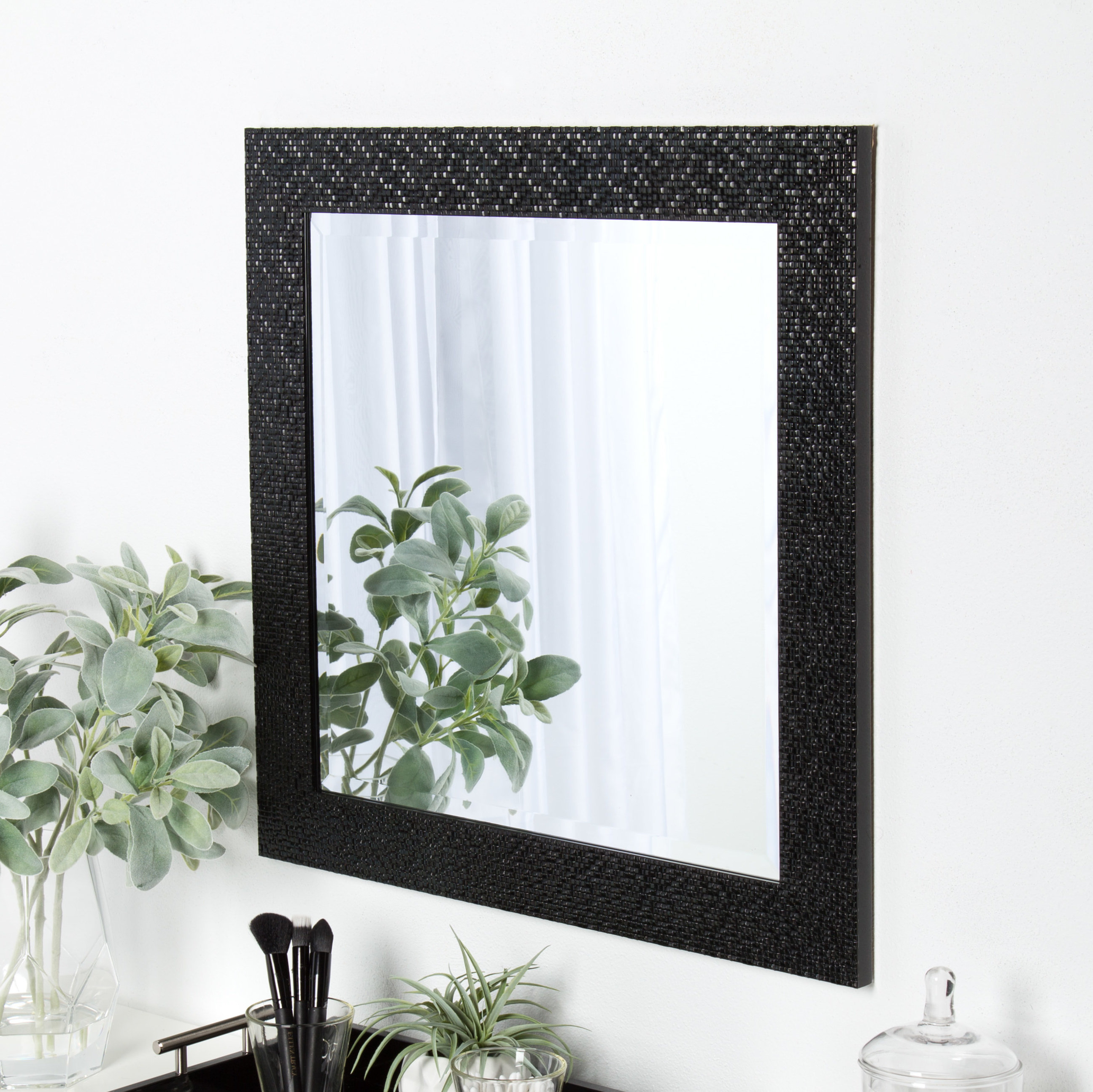 Trendy Rectangle Framed Beveled Accent Mirror Regarding Rectangle Accent Mirrors (View 7 of 20)