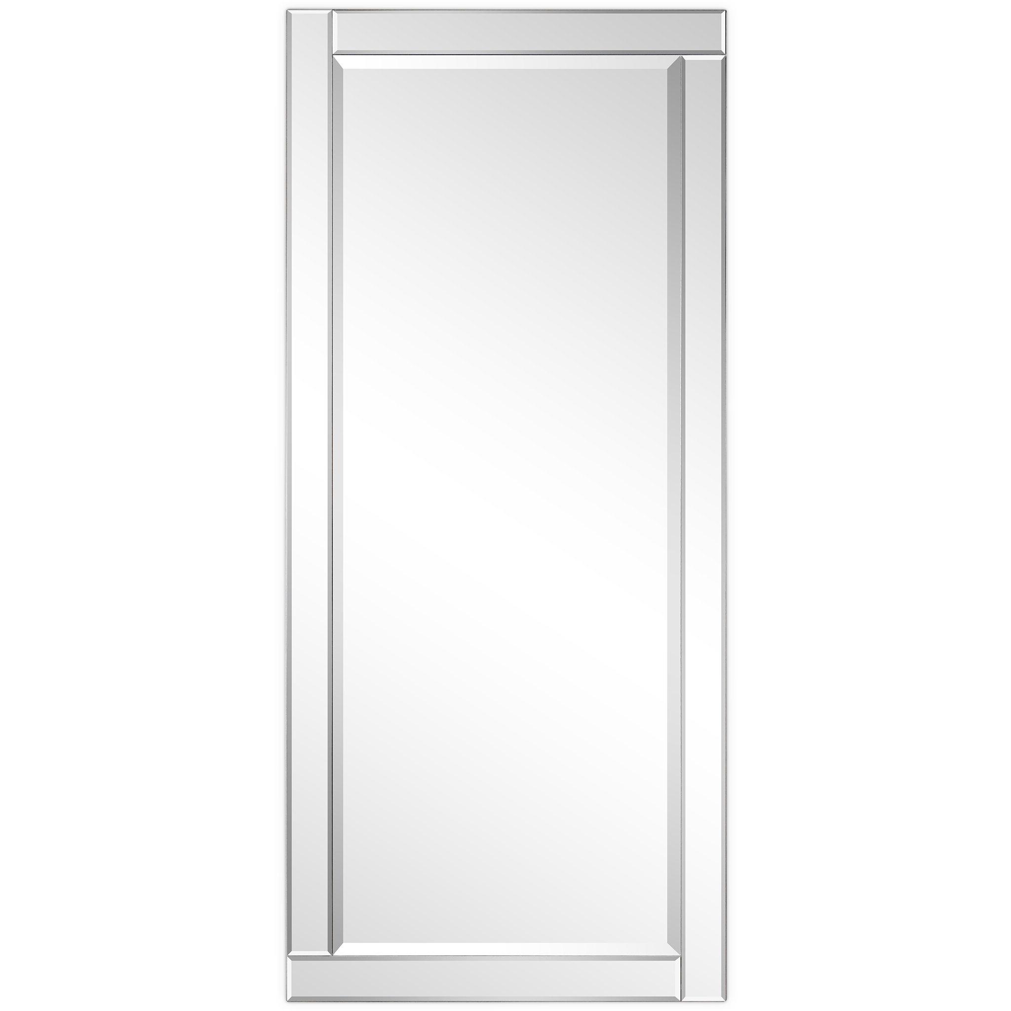 Trendy Reis Modern Rectangle Beveled Wall Mirror Regarding Modern Rectangle Wall Mirrors (View 12 of 20)