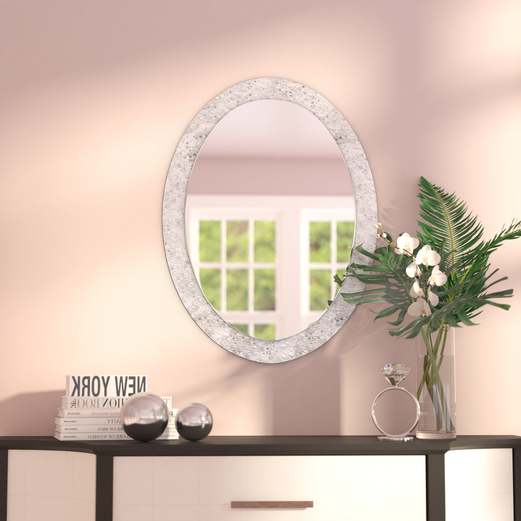 Featured Photo of Sajish Oval Crystal Wall Mirrors