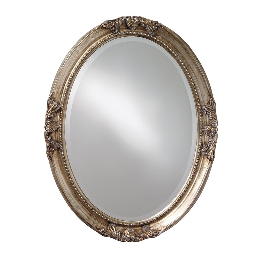 Trendy Silver Oval Wall Mirrors Throughout Tyler Dillon Ann 33 In L X 25 In W Silver Leaf Beveled Oval Wall (View 18 of 20)