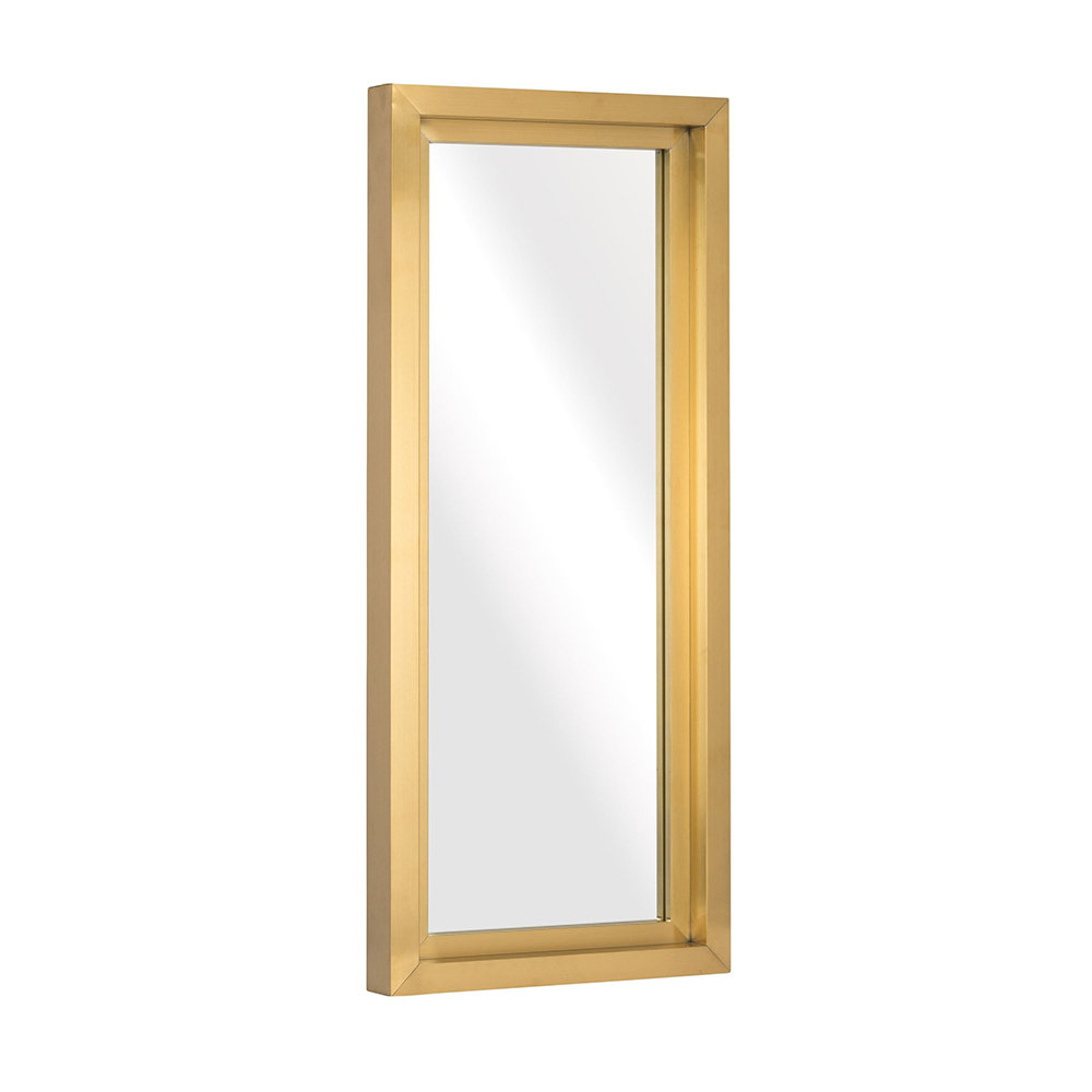 Trendy Small Gold Wall Mirrors Within Glam Wall Mirror – Gold Rectangular Small (Gallery 18 of 20)