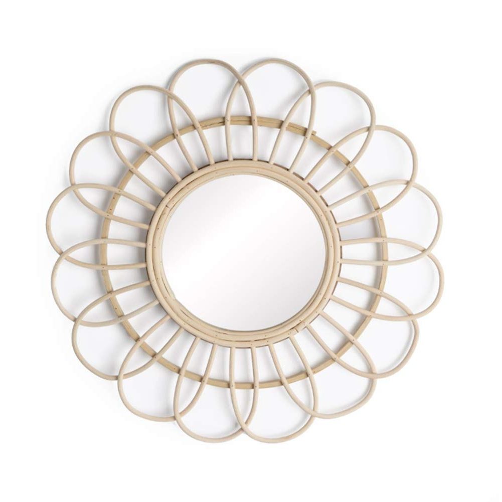 Trendy Sun Shaped Wall Mirrors For Bathroom Mirror Mirror, Bamboo Rattan Round Wall Mounted Sun Shape Mirror  Living Room Entrance Art Mirror Dressing Table Mirror 21.6In In Diameter (Gallery 20 of 20)