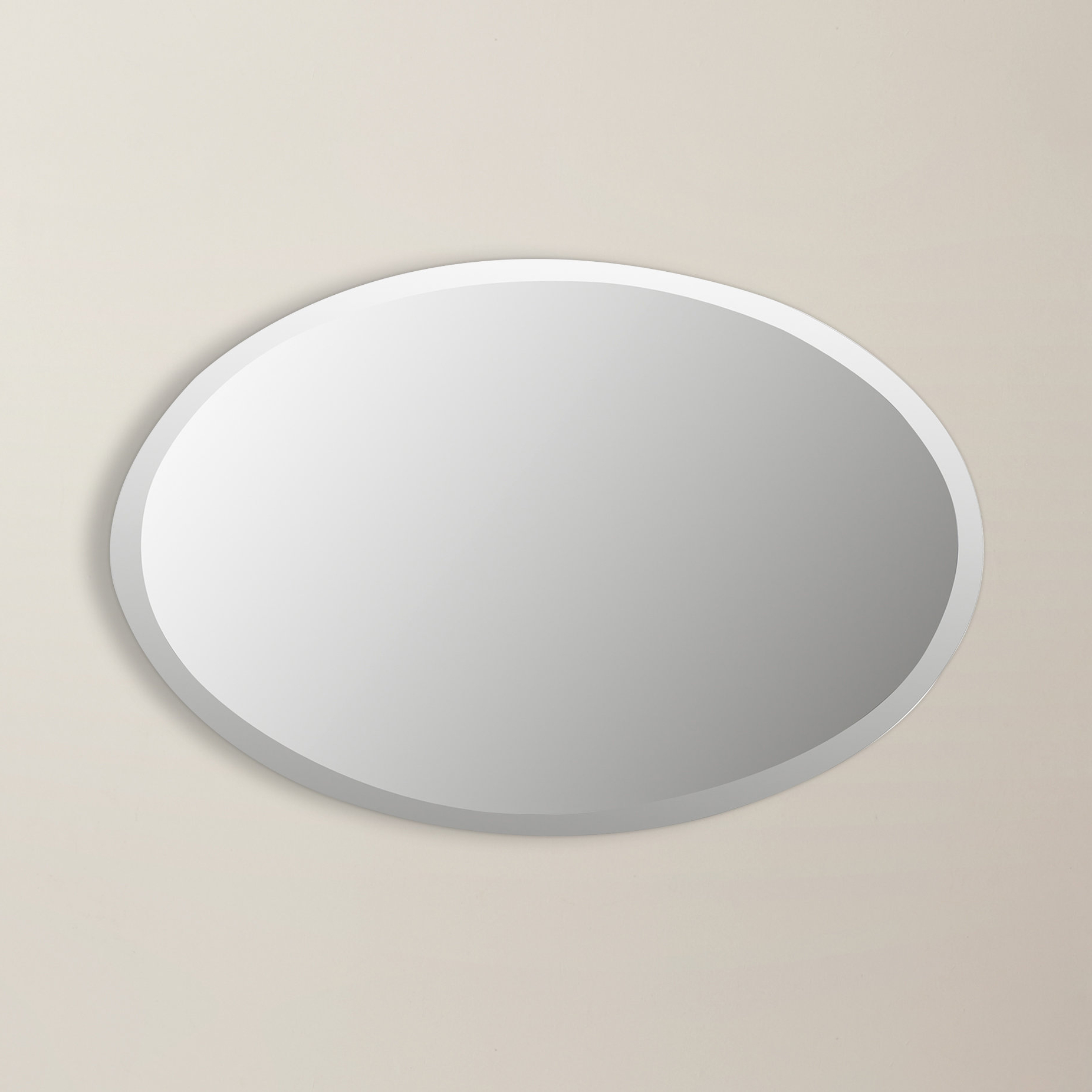 Trendy Thornbury Oval Bevel Frameless Wall Mirrors For Thornbury Oval Bevel Frameless Wall Mirror (View 18 of 20)