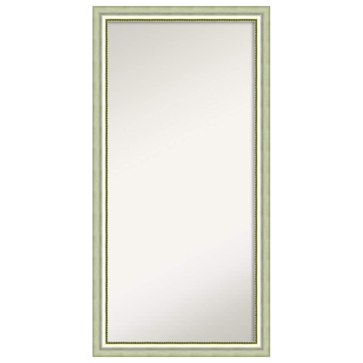 Trendy Traditional Square Glass Wall Mirrors Regarding Amazon: Amanti Art Framed Vegas Silver Solid Wood Wall Mirrors (Gallery 11 of 20)