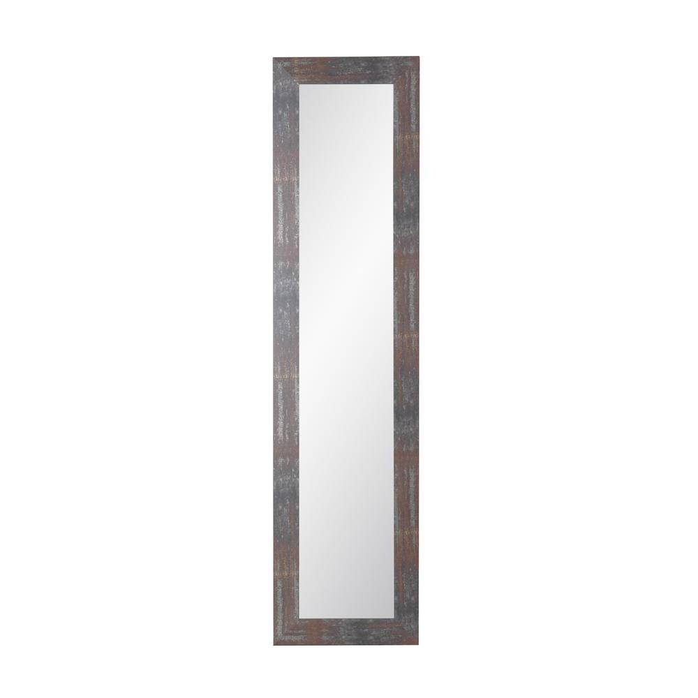 Trendy Urban Industrial Loft Slim Full Length Mirror Throughout Industrial Full Length Mirrors (View 9 of 20)